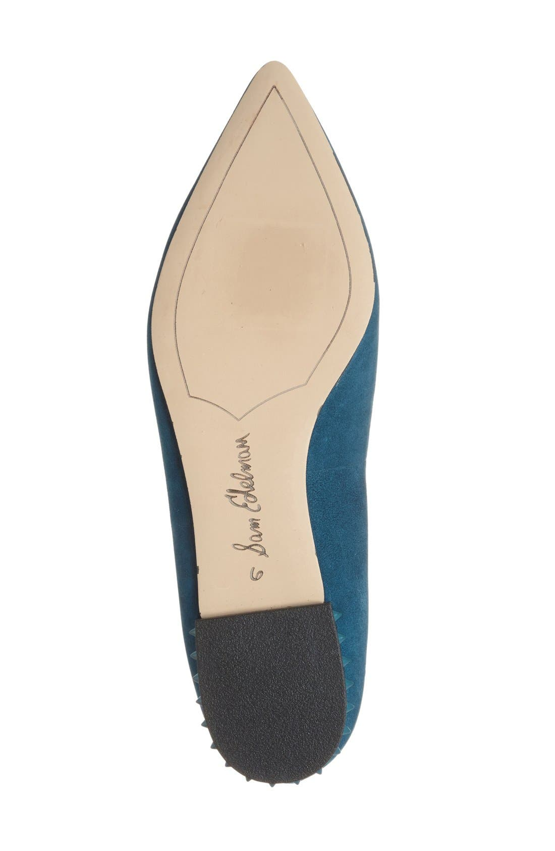 'Reyanne' Spike Rand Pointy Toe Flat,                             Alternate thumbnail 27, color,