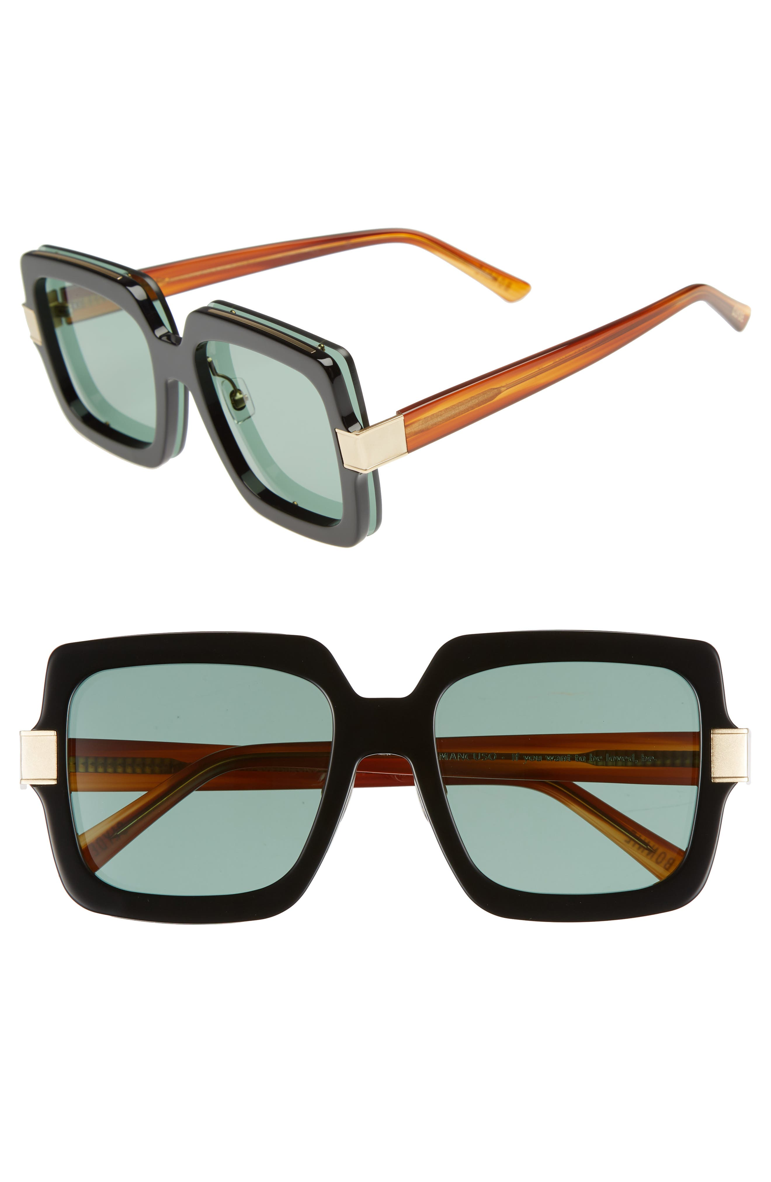Mancuso 54mm Sunglasses,                             Main thumbnail 1, color,                             001