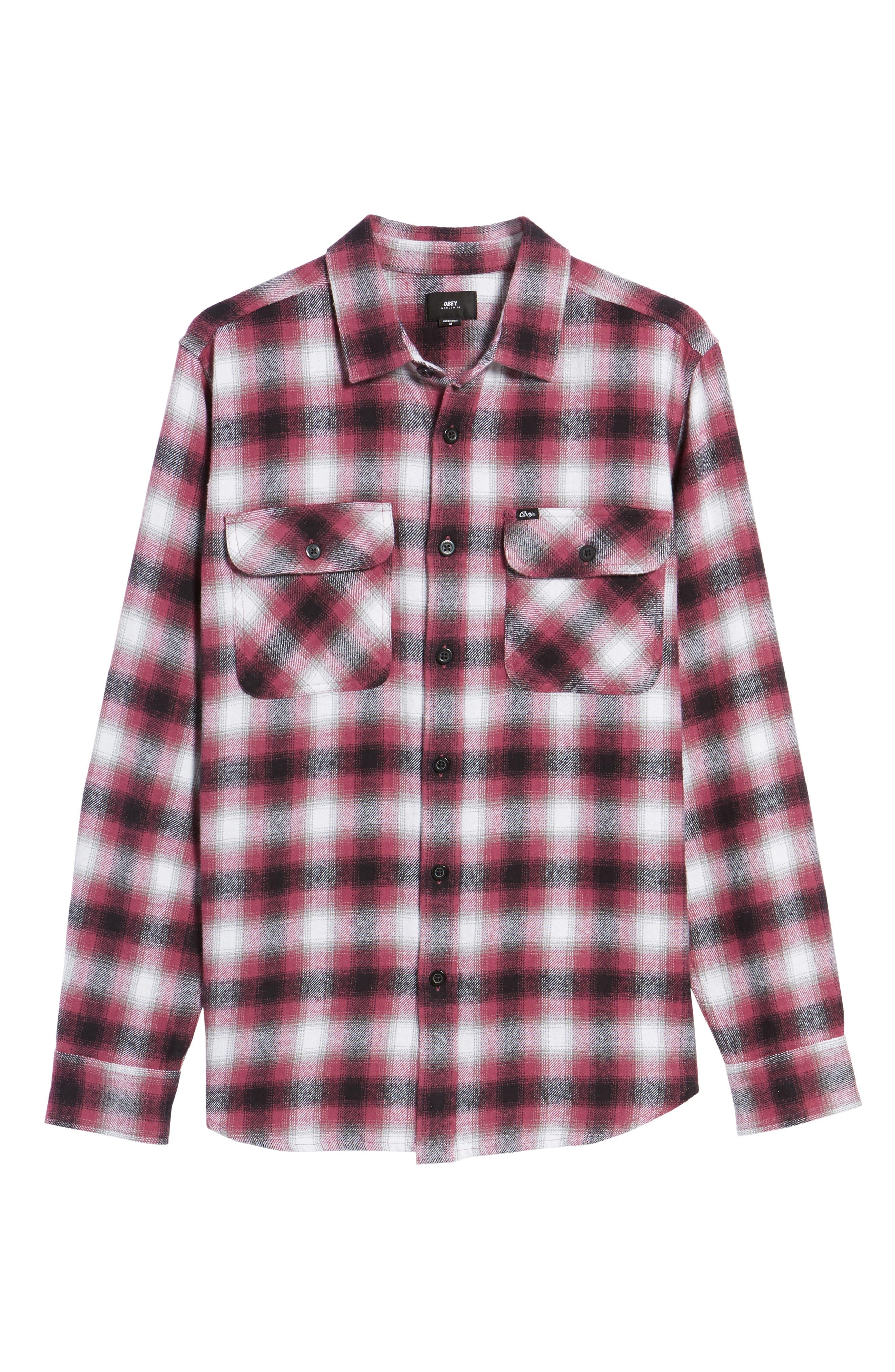 Mission Plaid Flannel Sport Shirt,                             Alternate thumbnail 6, color,