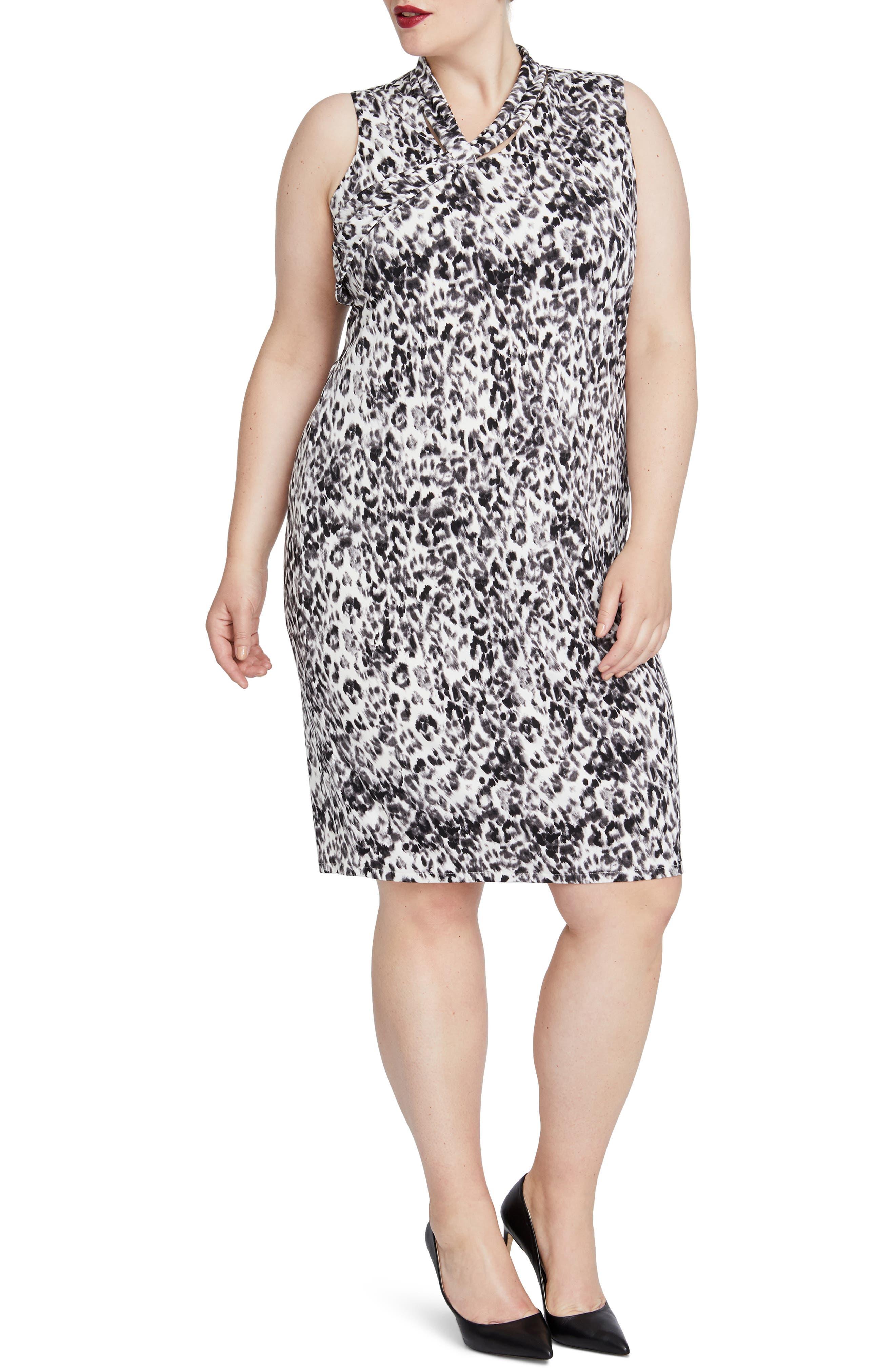 Axel Leopard Print Dress,                             Main thumbnail 1, color,                             001