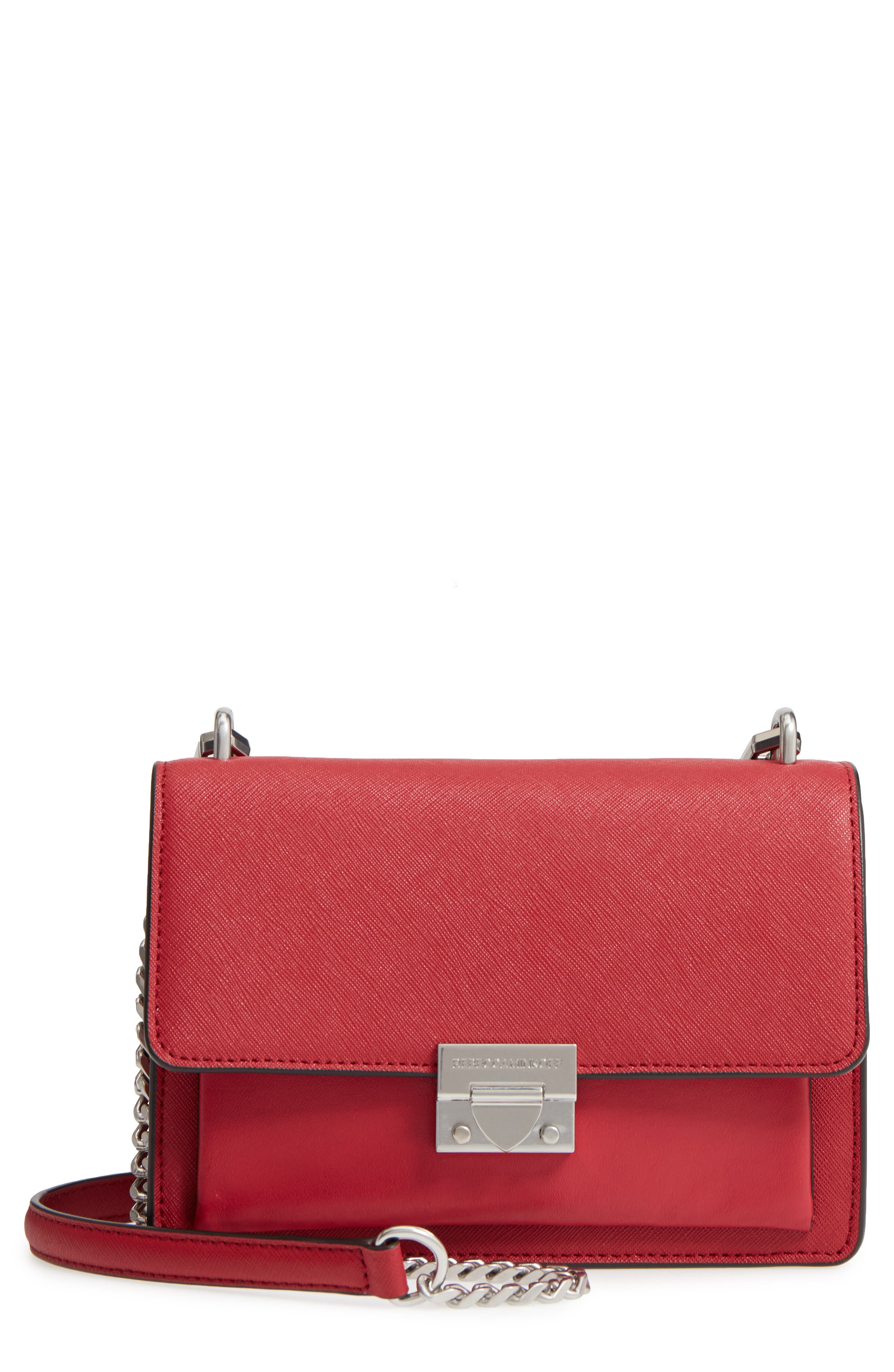 Medium Christy Leather Shoulder Bag,                             Main thumbnail 4, color,