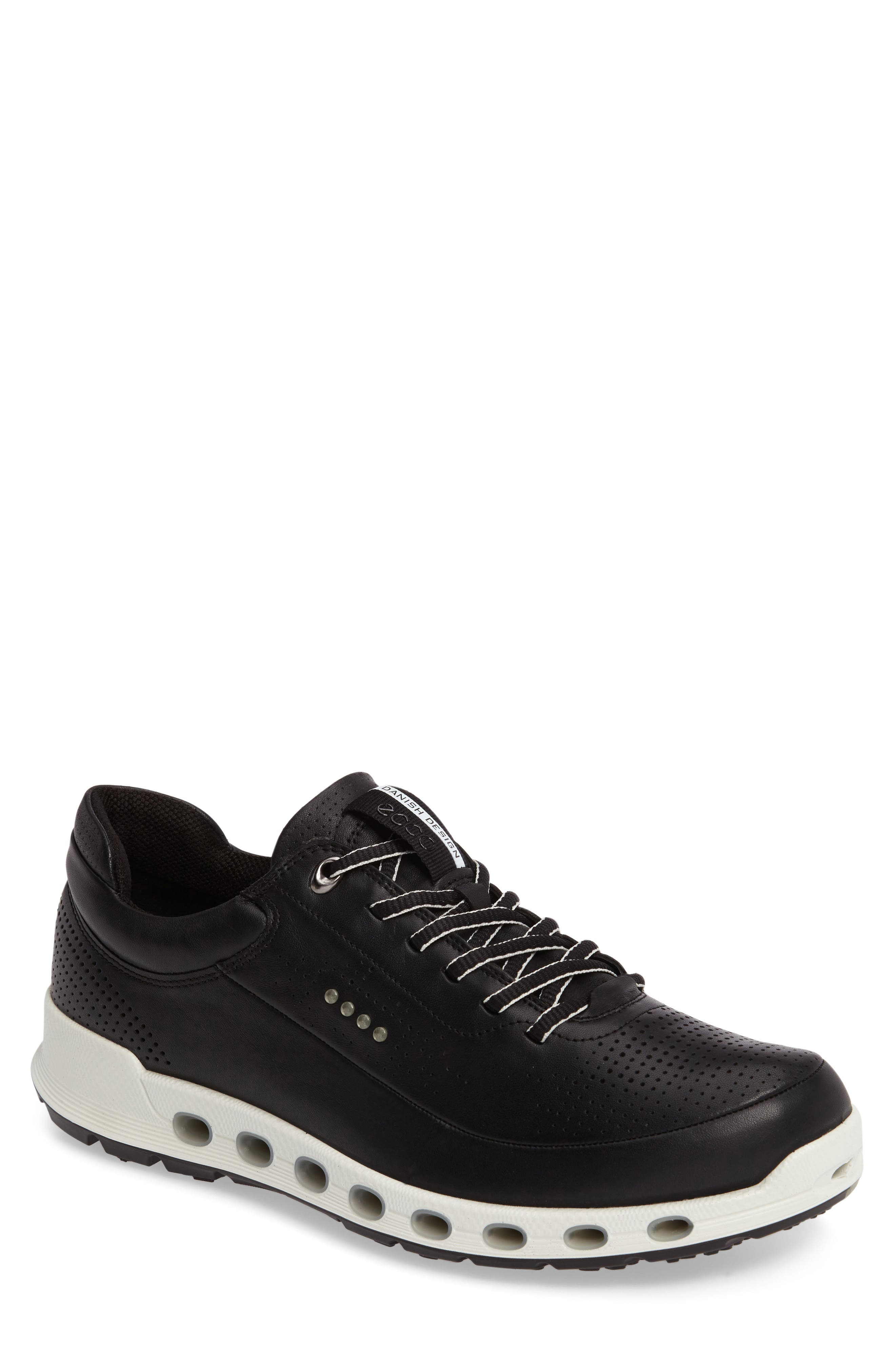 Cool 2.0 Leather GTX Sneaker,                         Main,                         color, BLACK