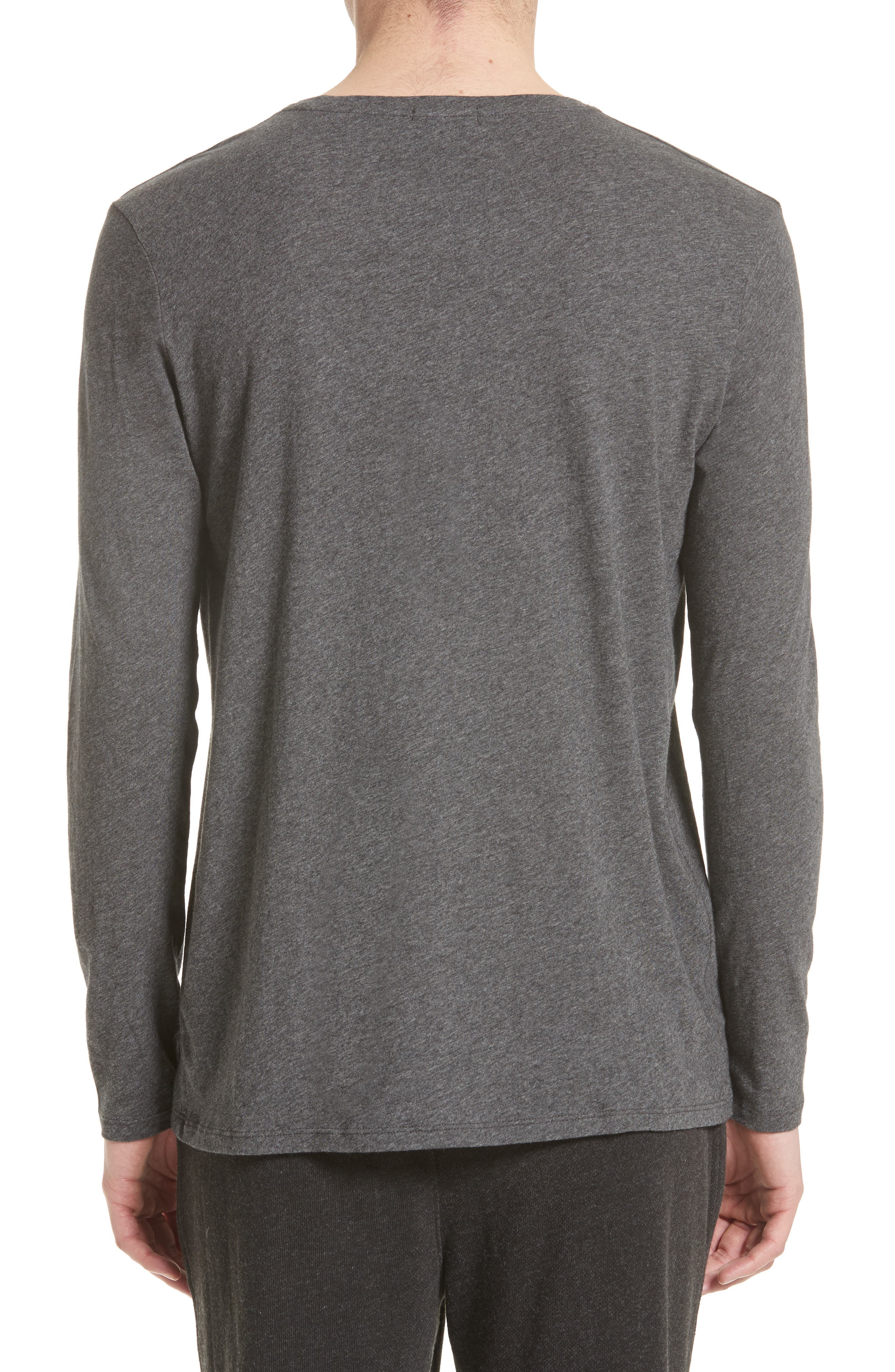 Cotton Crewneck,                             Alternate thumbnail 2, color,                             CHARCOAL
