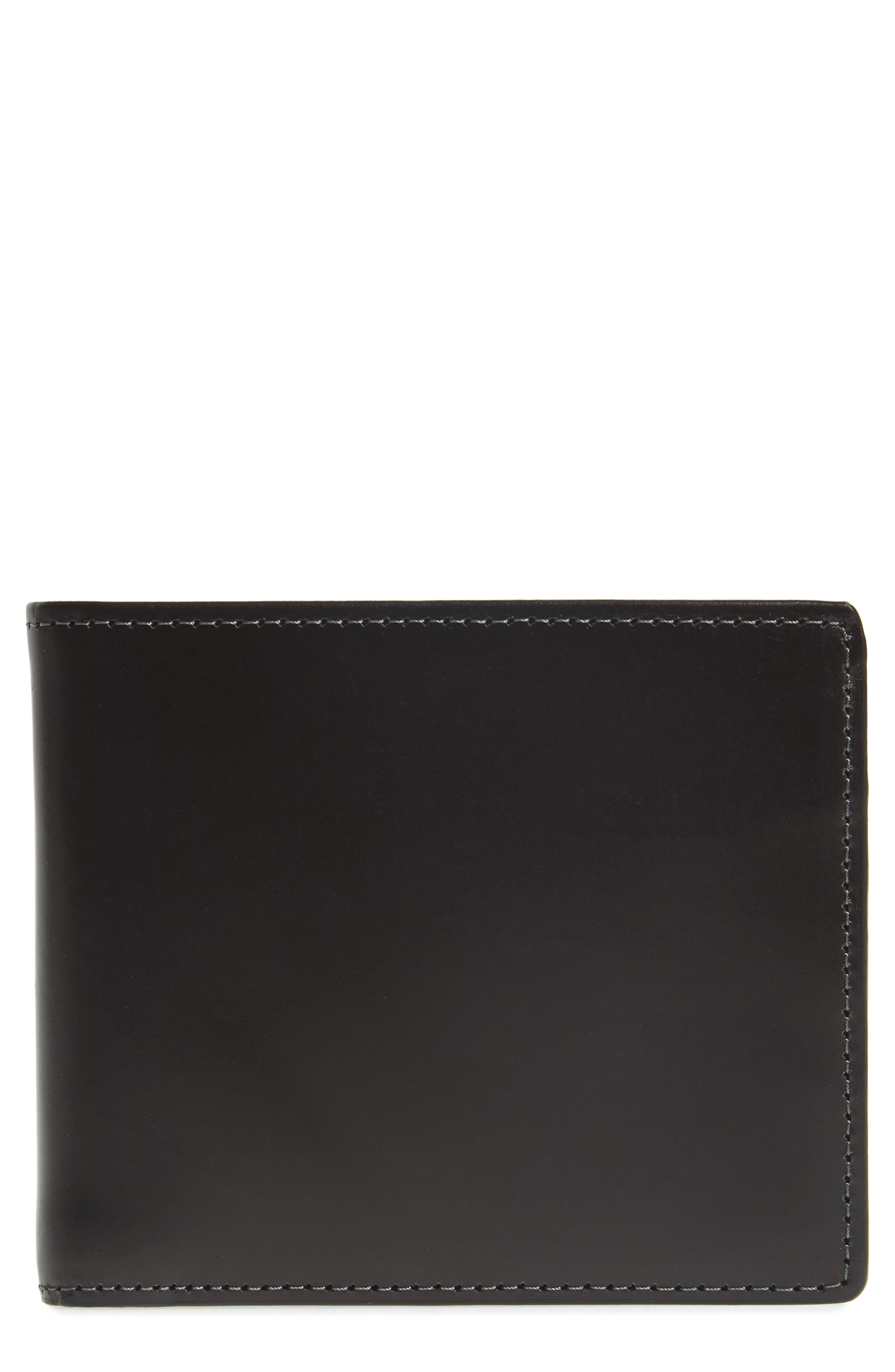 Wyatt Leather Wallet,                         Main,                         color, BLACK