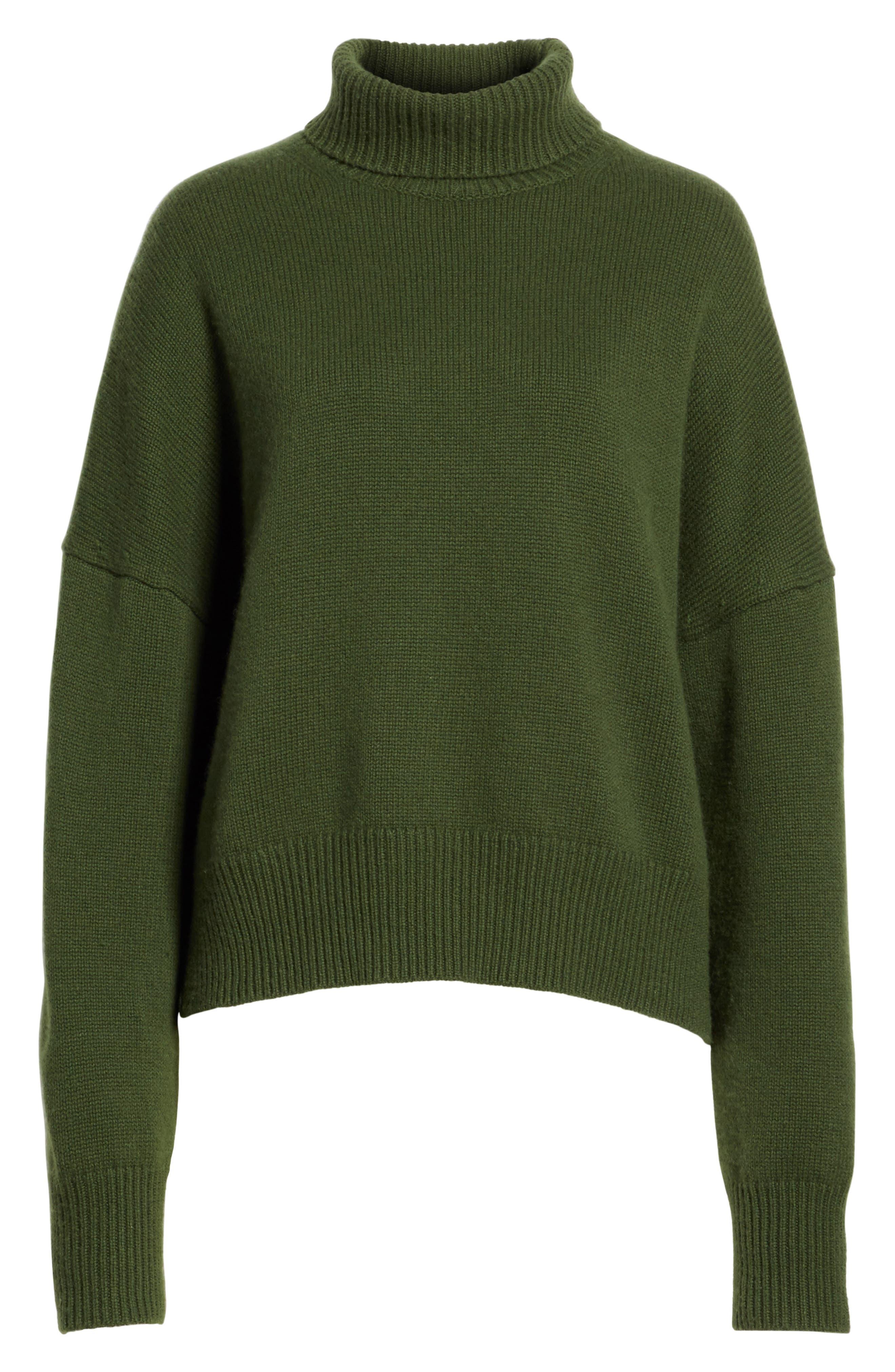 Serinda Wool & Cashmere Turtleneck Sweater,                             Alternate thumbnail 6, color,                             303