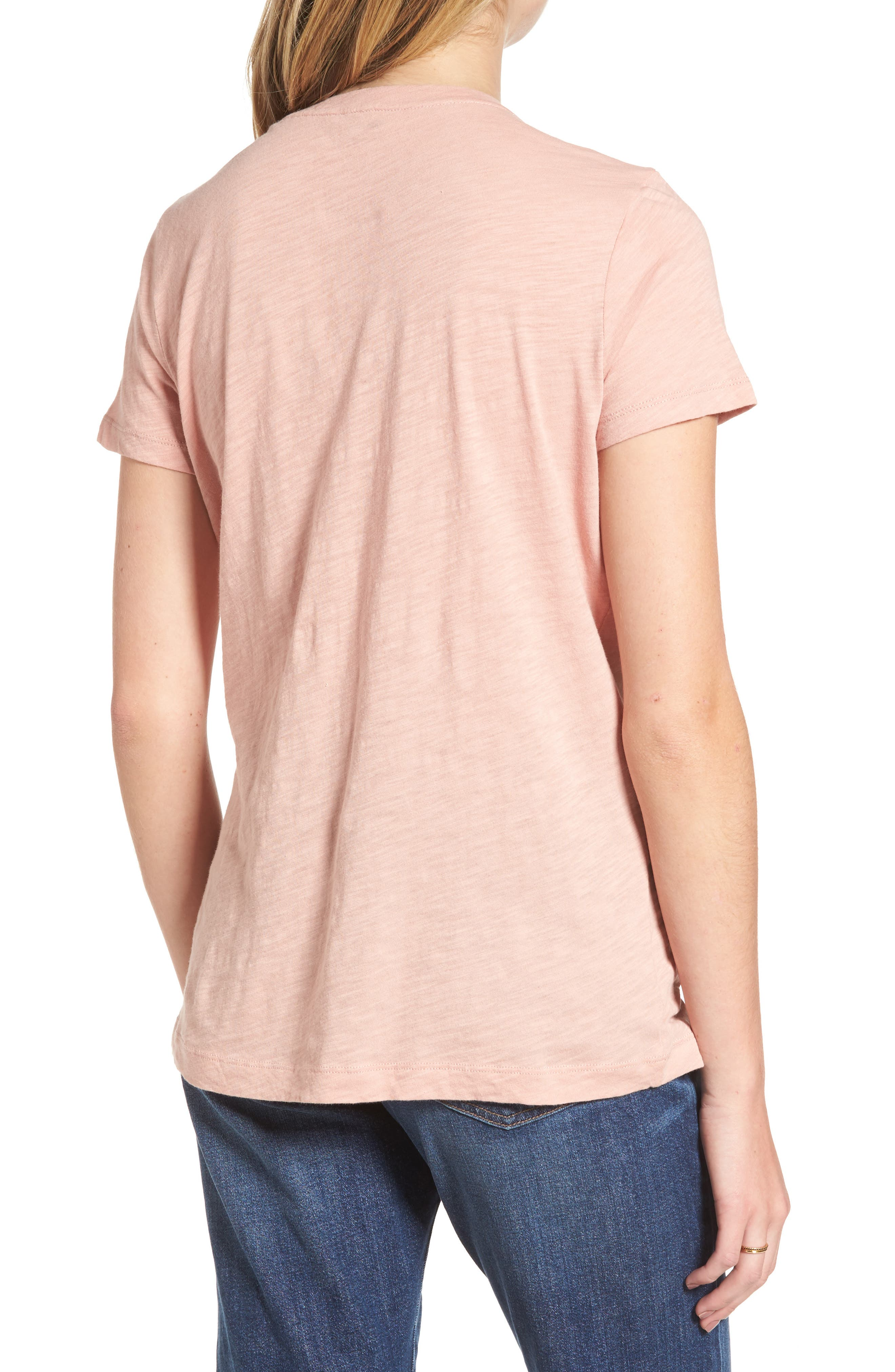 Whisper Cotton V-Neck Pocket Tee,                             Alternate thumbnail 90, color,