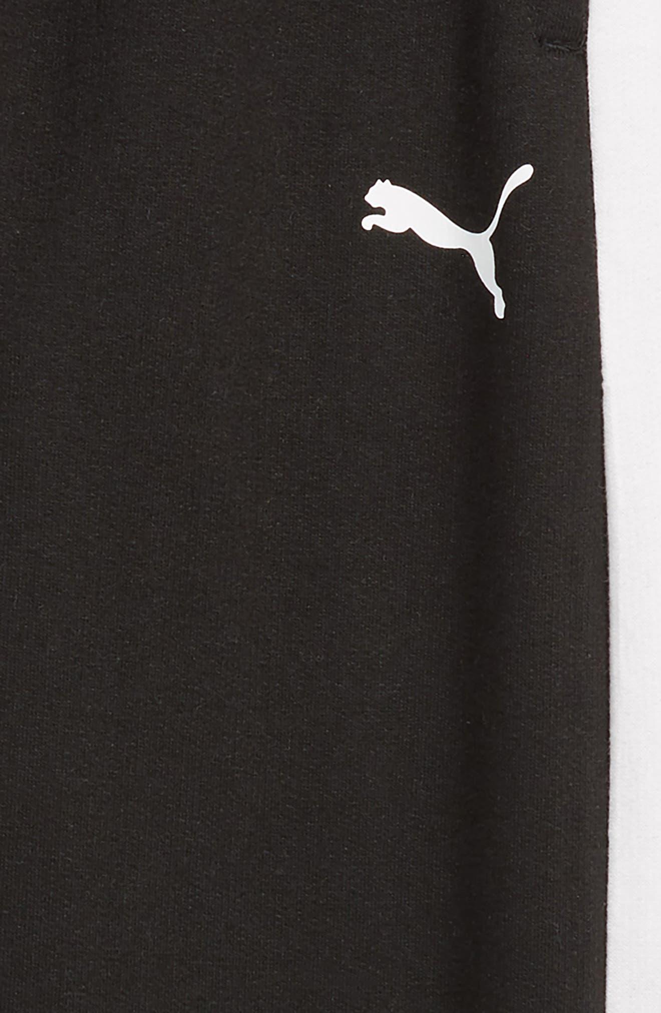 Pieced Jogger Pants,                             Alternate thumbnail 3, color,                             PUMA BLACK