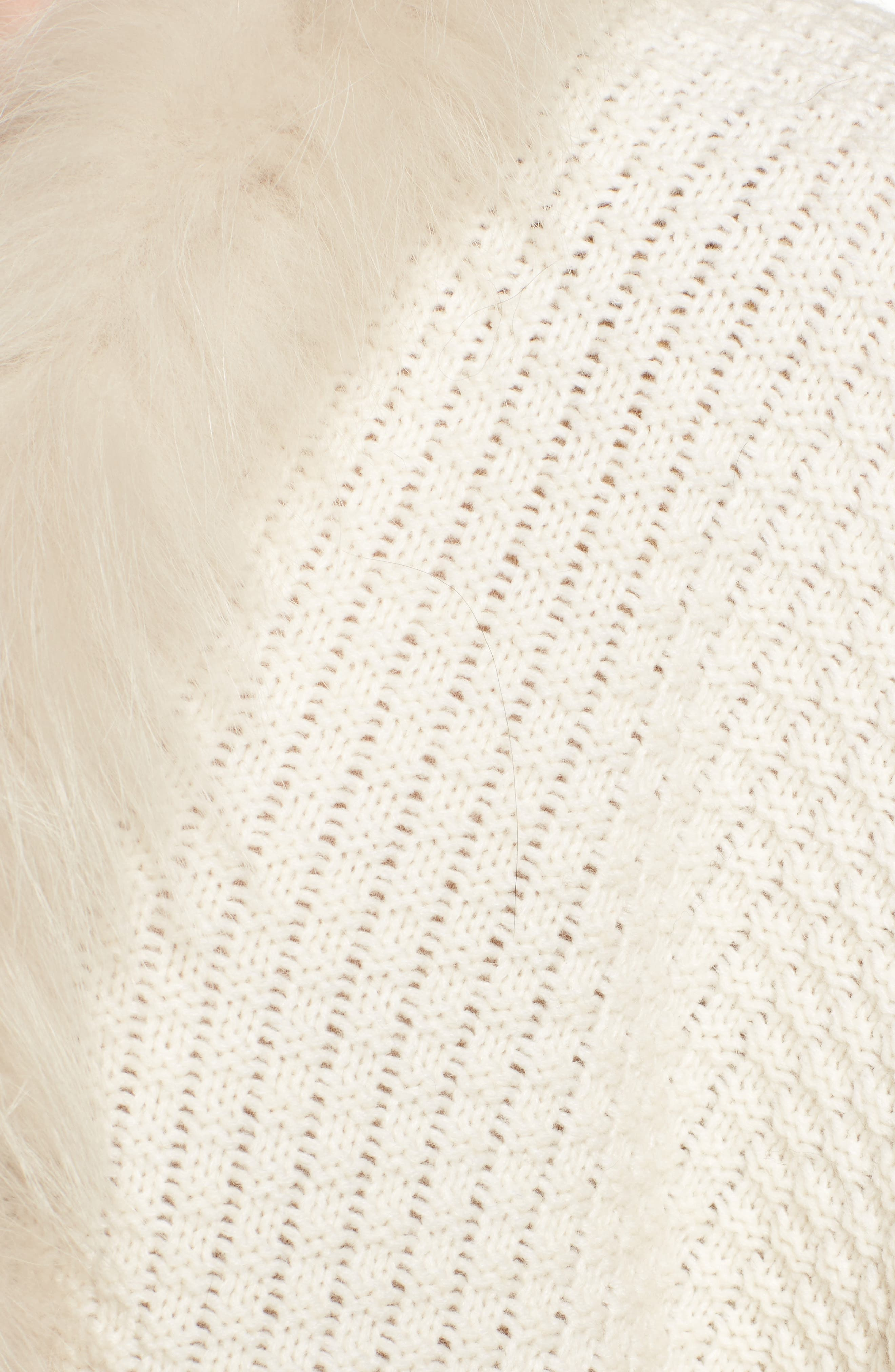 Genuine Raccoon Fur Trim Wrap,                             Alternate thumbnail 5, color,                             102