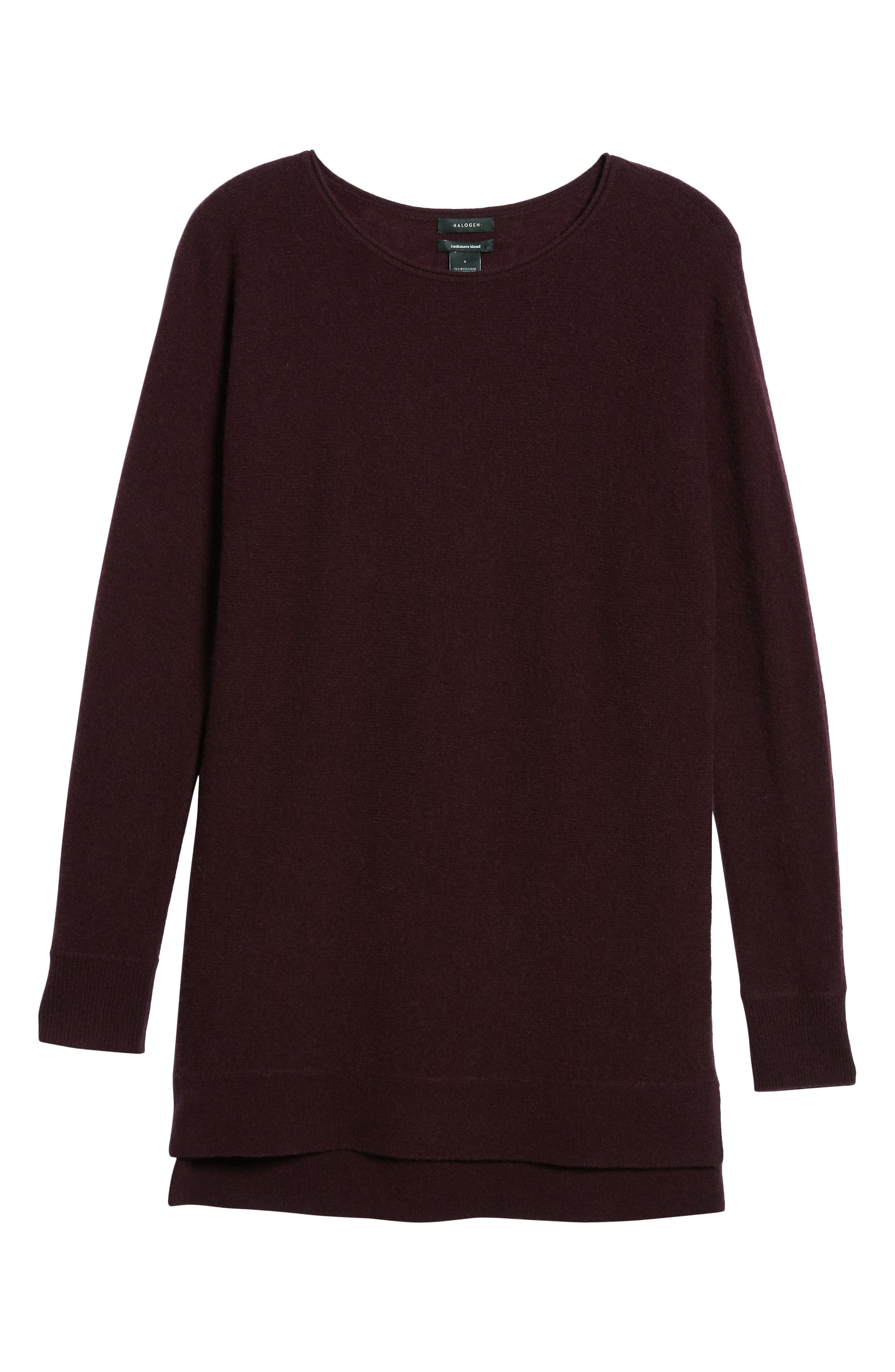High/Low Wool & Cashmere Tunic Sweater,                             Alternate thumbnail 105, color,