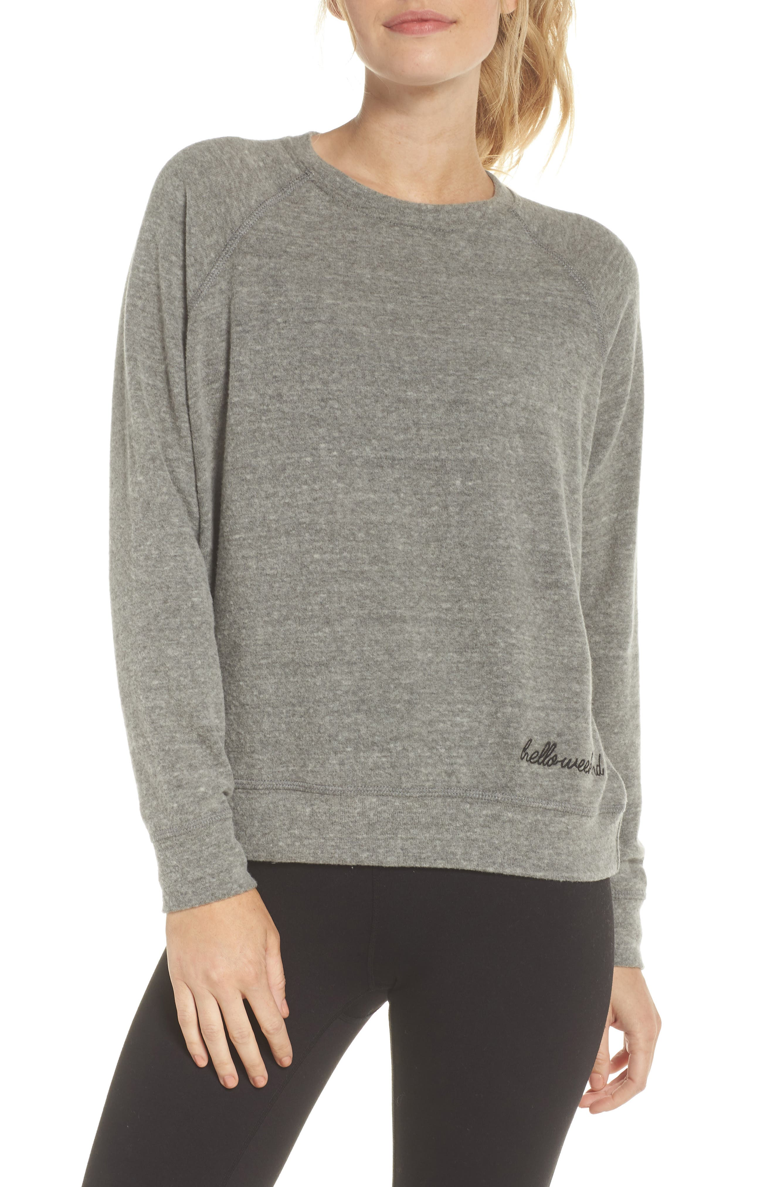 Roselynn Hello, Weekend Sweatshirt,                             Main thumbnail 1, color,                             020