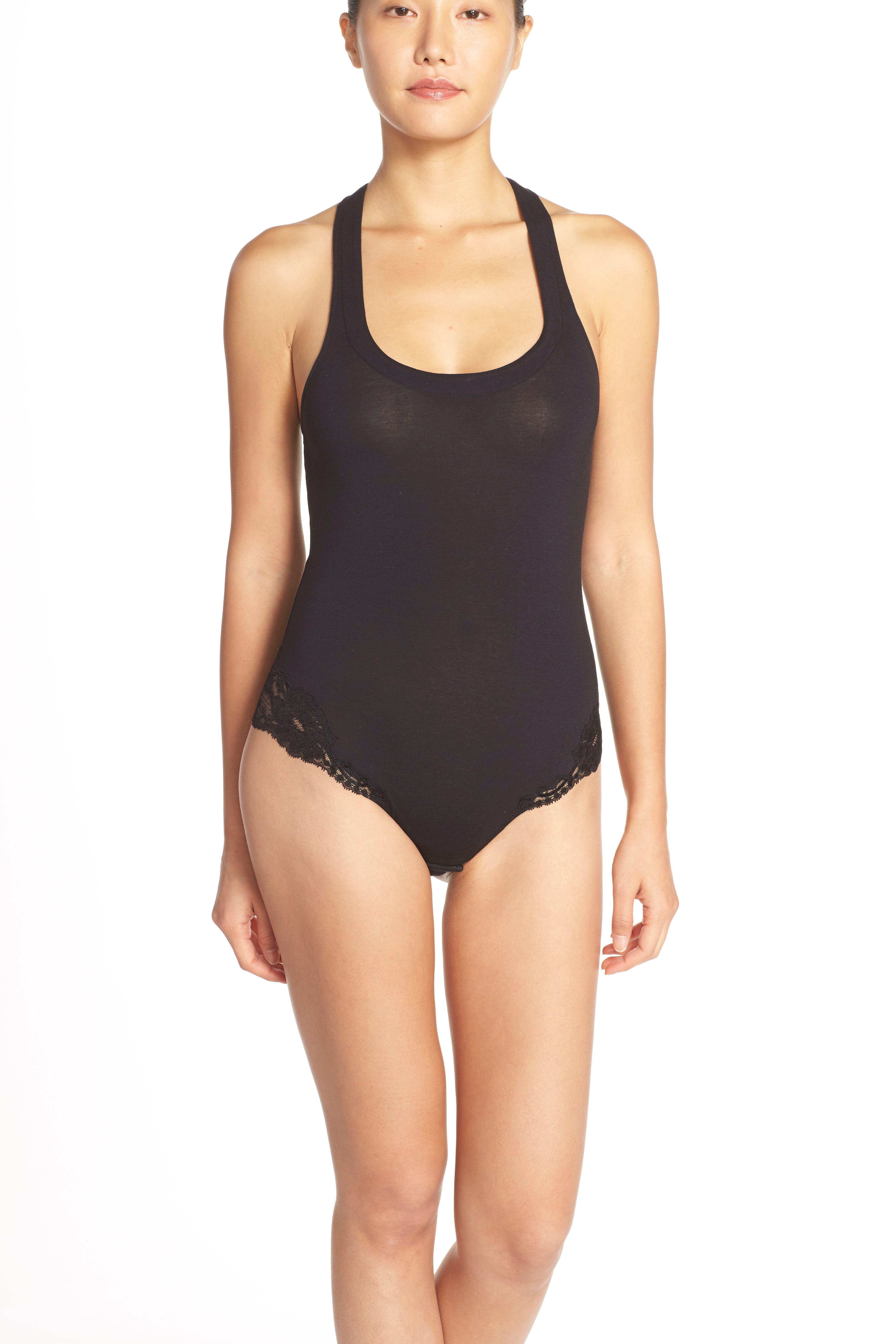 'Spalla Larga' Racerback Bodysuit,                             Alternate thumbnail 7, color,