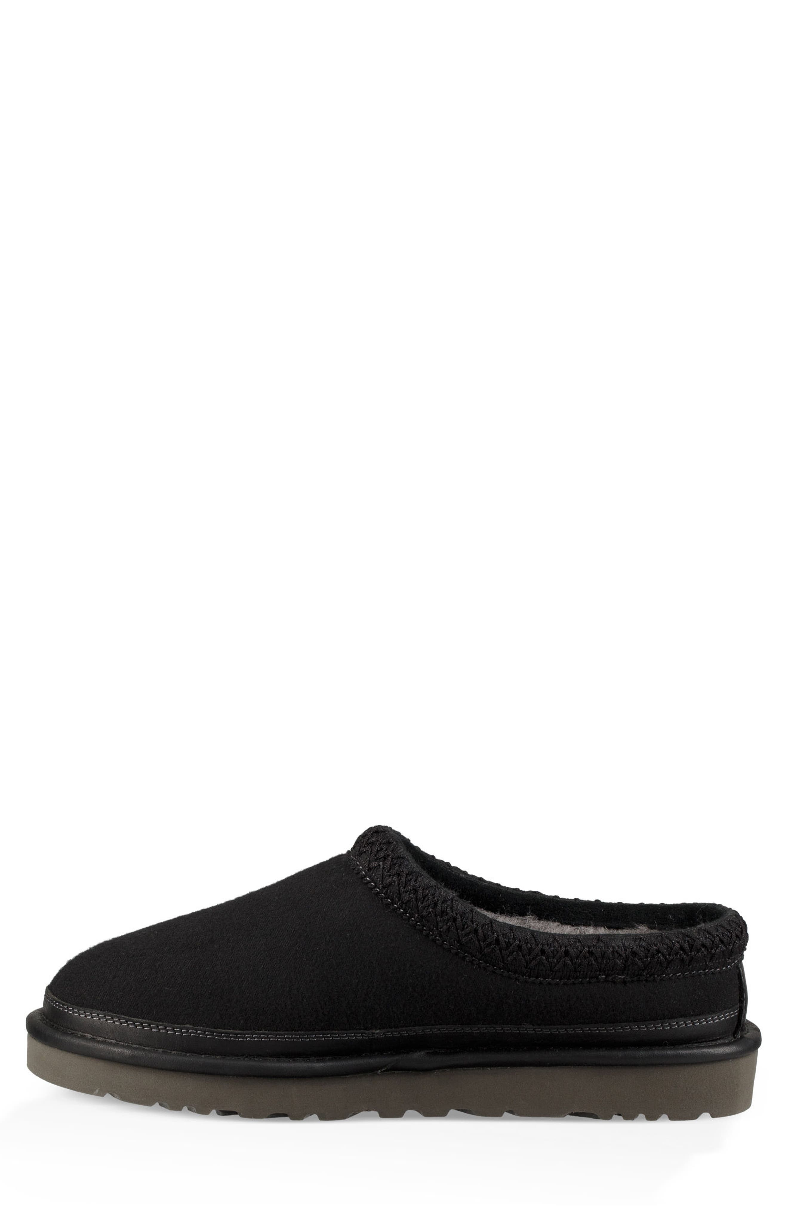 'Tasman' Slipper,                             Alternate thumbnail 3, color,                             BLACK/ BLACK