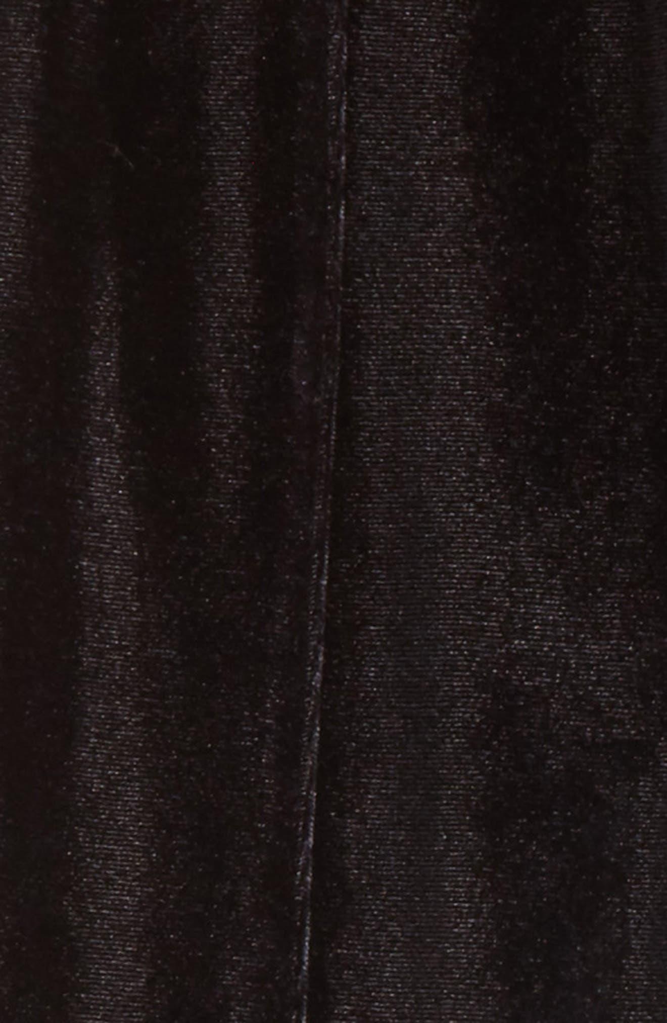 Velvet Stirrup Pants,                             Alternate thumbnail 2, color,                             001