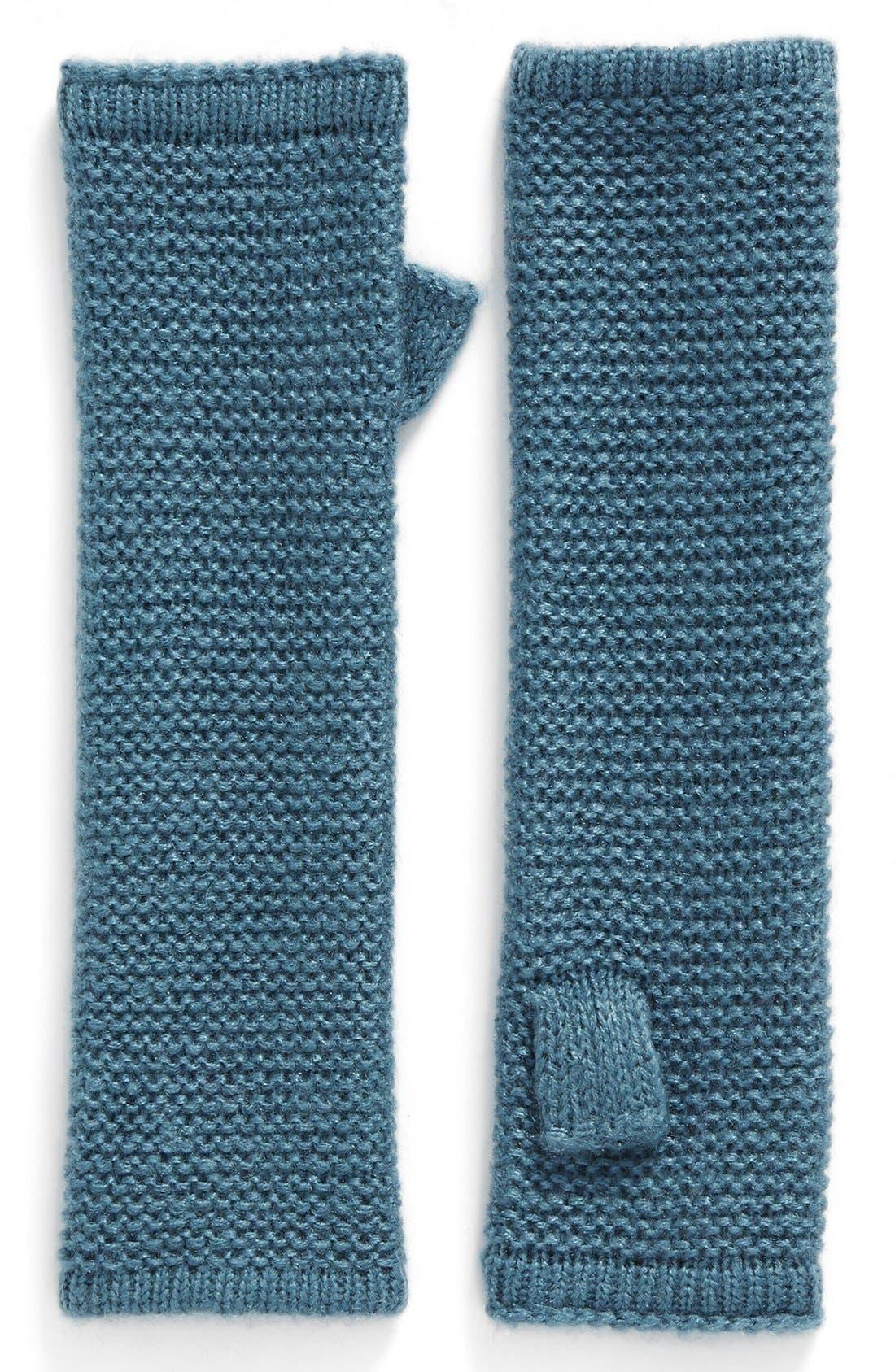 Garter Stitch Fingerless Gloves,                             Main thumbnail 6, color,
