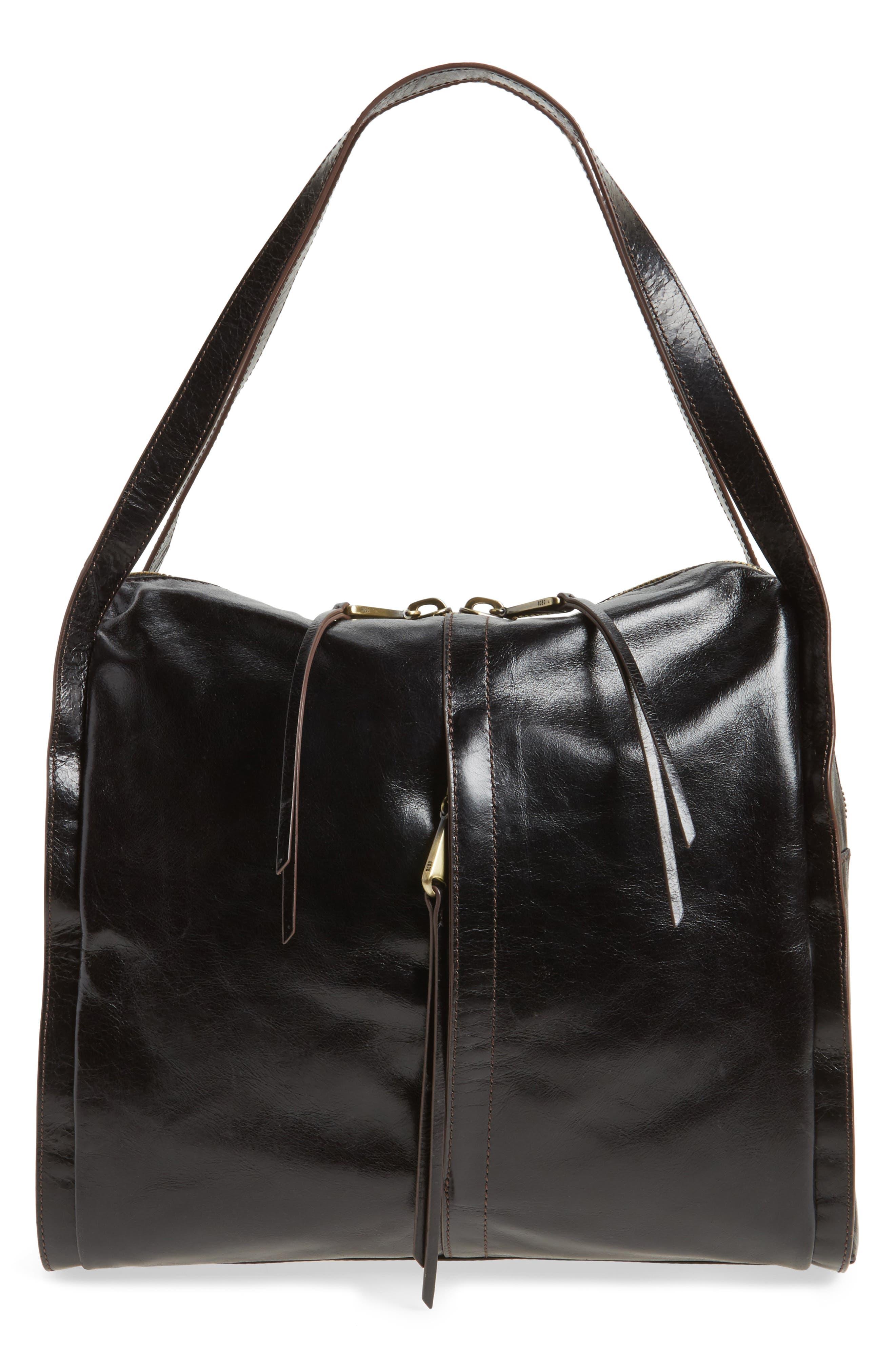 Century Leather Shopper,                         Main,                         color, 001