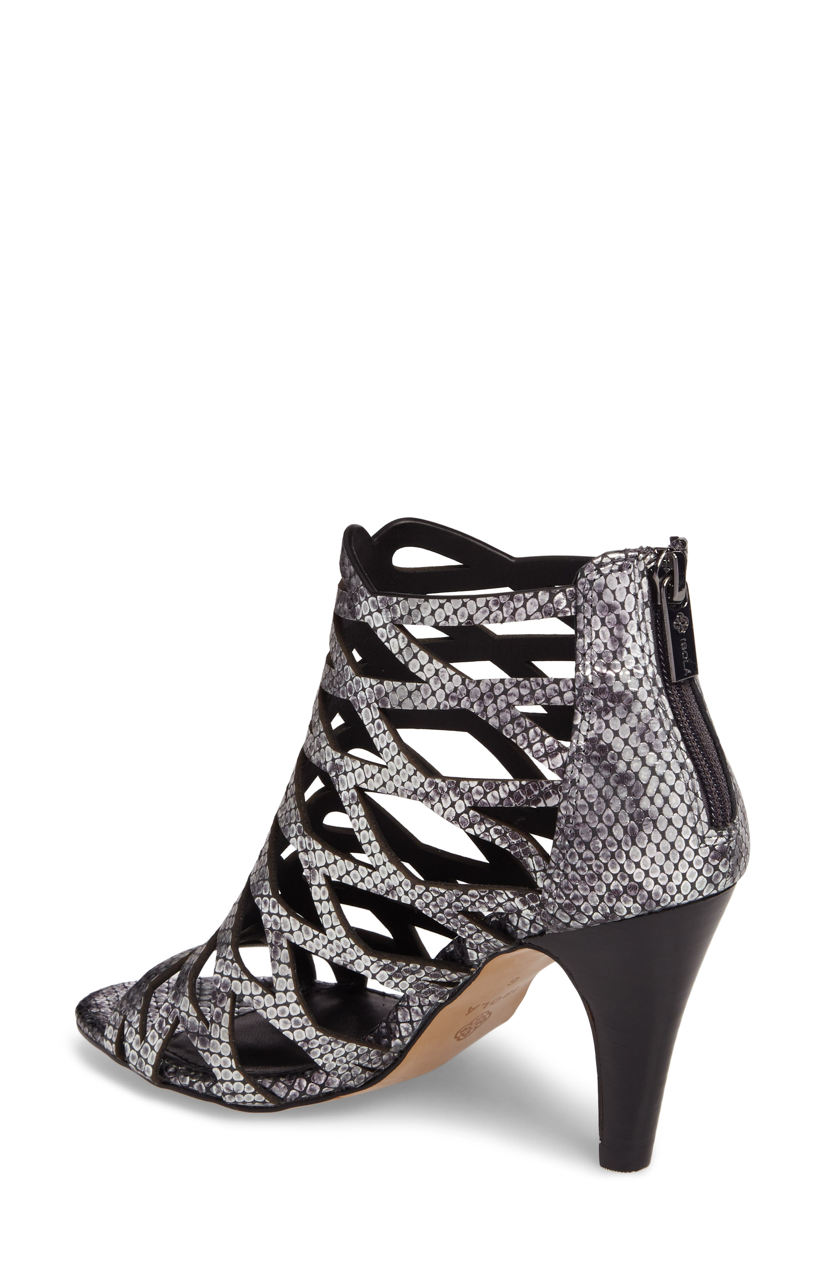 Debra Cage Sandal,                             Alternate thumbnail 2, color,                             ANTHRACITE SNAKE PRINT LEATHER