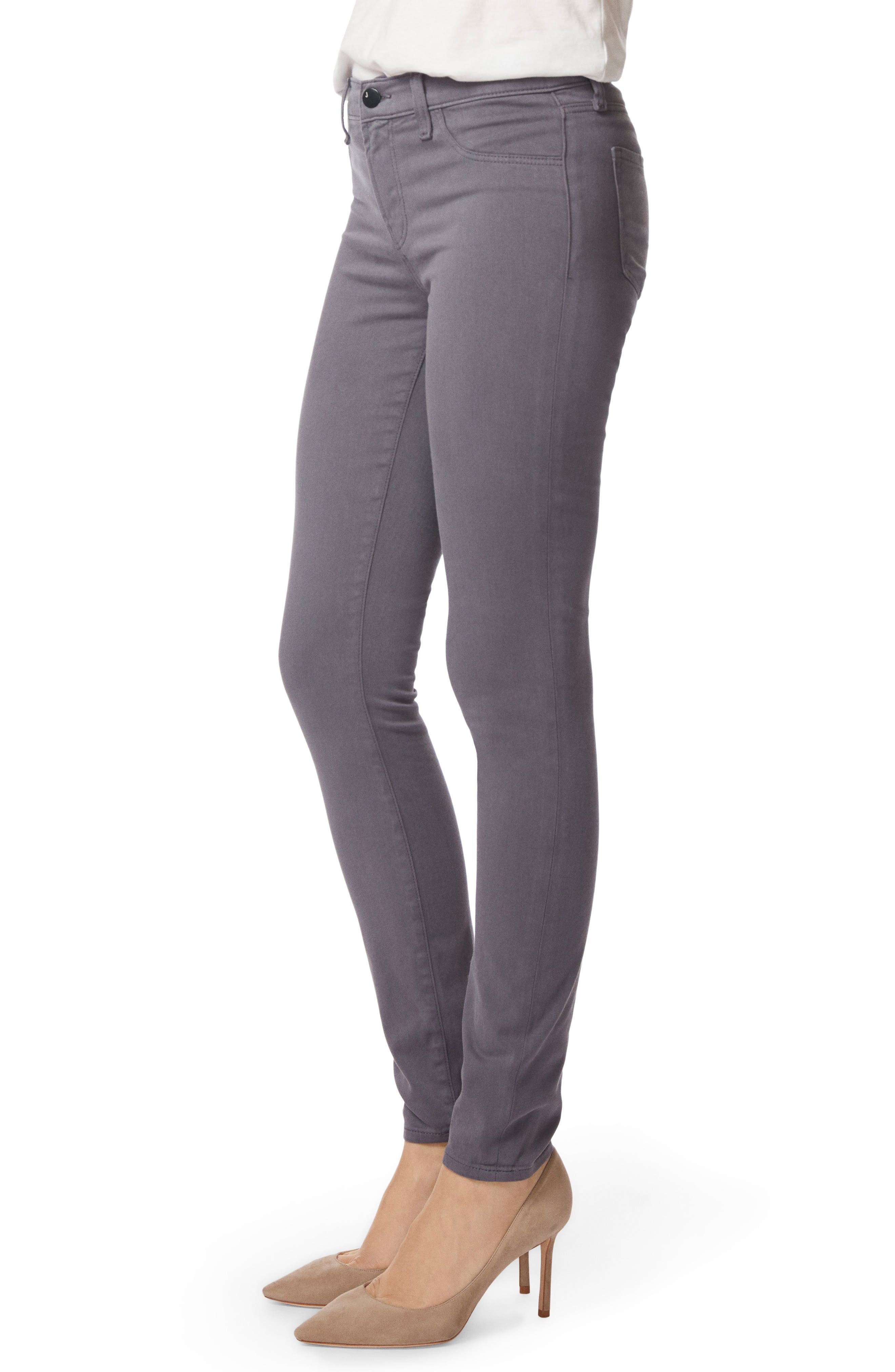 485 Mid Rise Skinny Jeans,                             Alternate thumbnail 3, color,                             VOLCANIC ASH