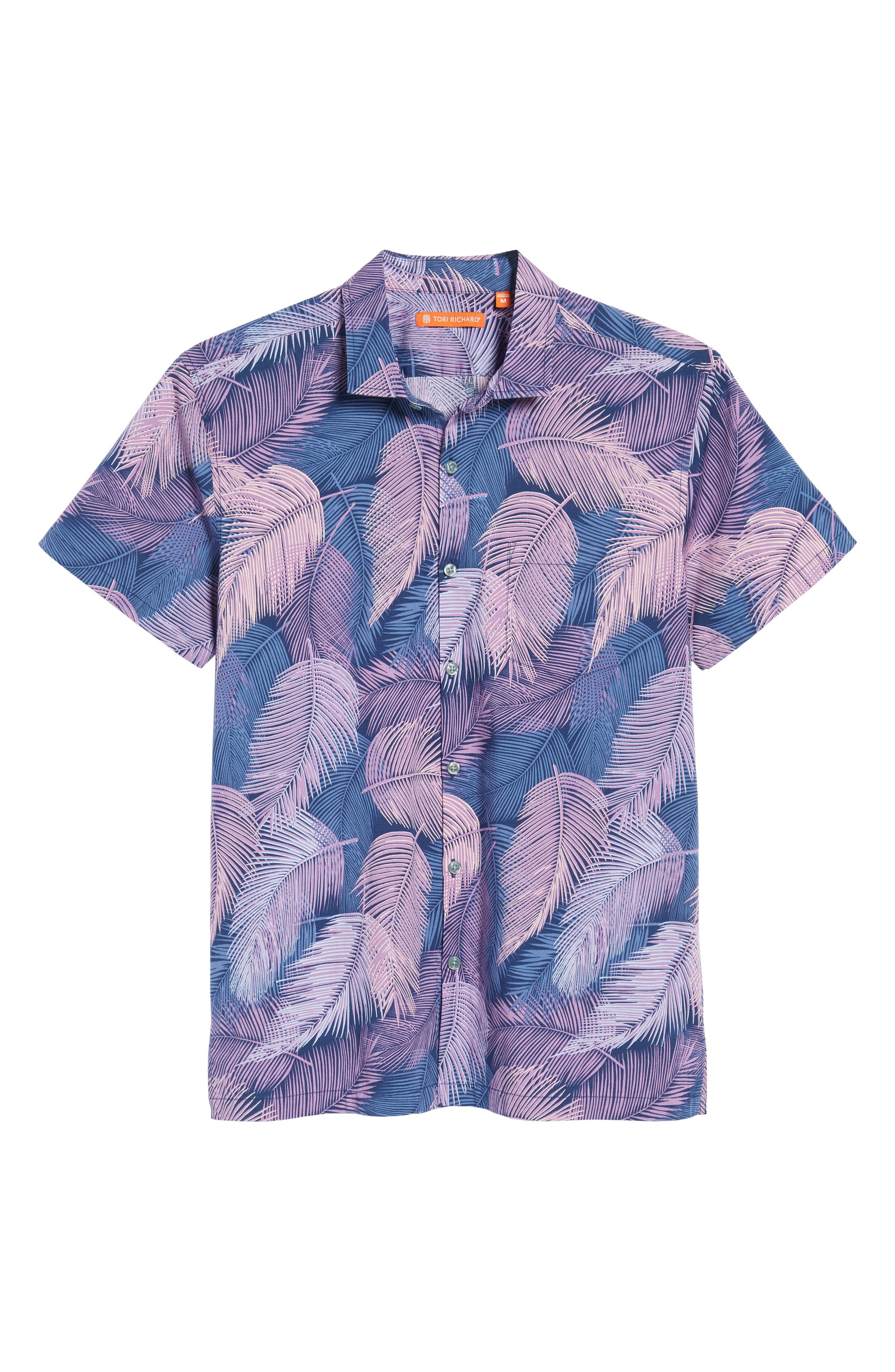 Shadow Play Trim Fit Sport Shirt,                             Alternate thumbnail 6, color,                             415