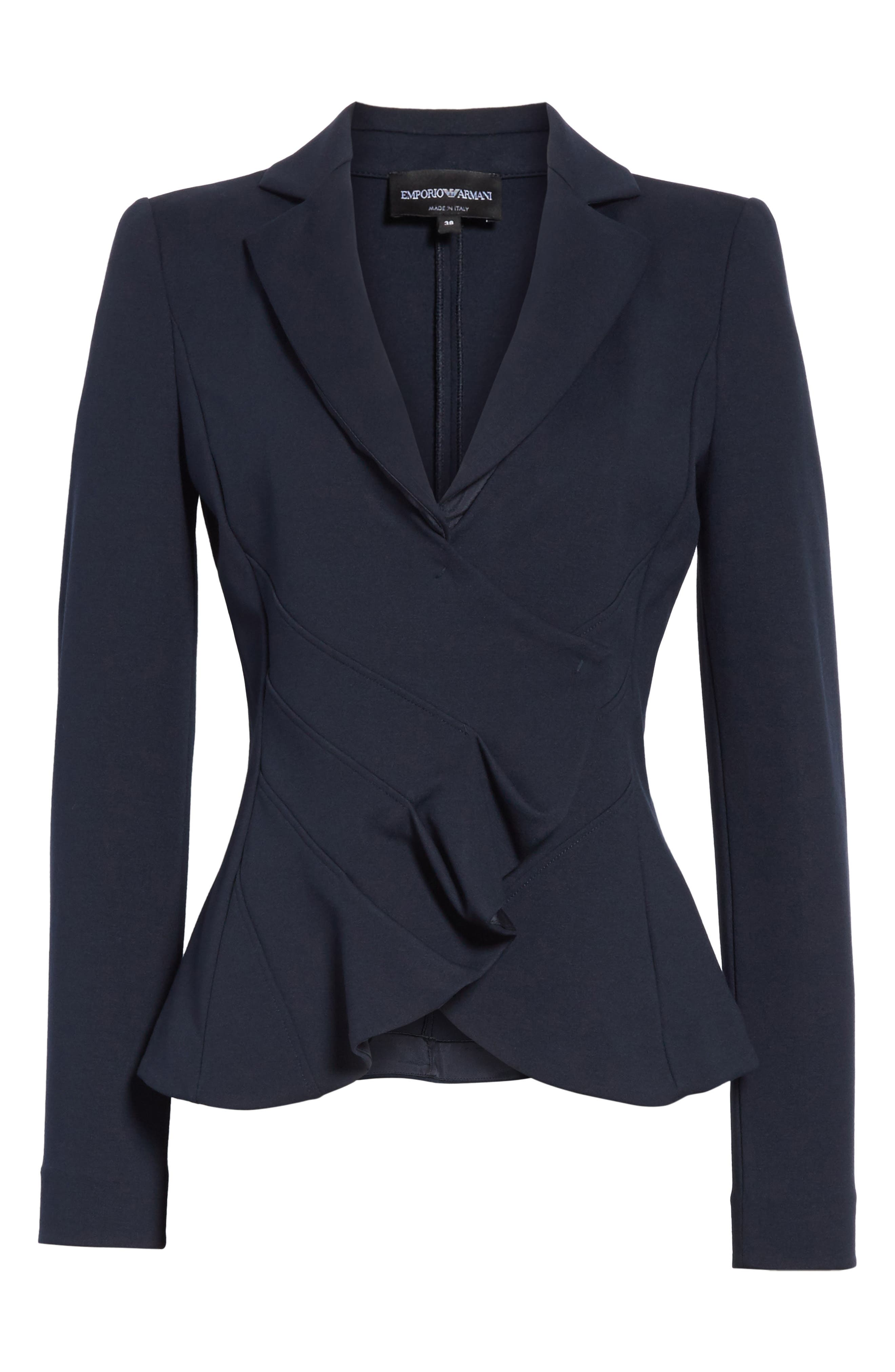 Asymmetrical Pleated Front Jacket,                             Alternate thumbnail 5, color,                             414