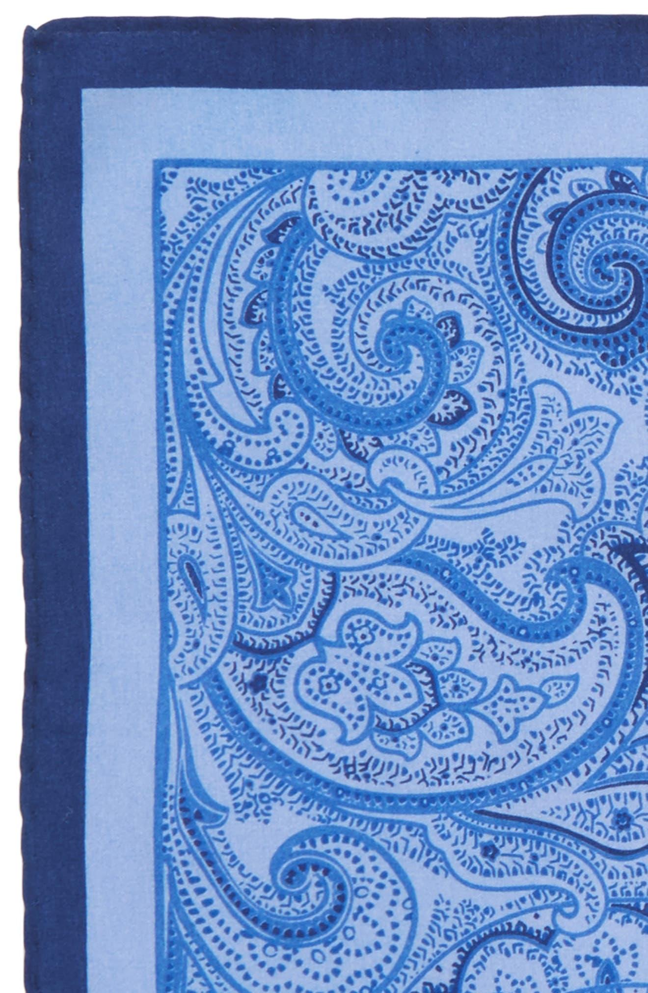 CALIBRATE,                             Paisley Cotton & Silk Pocket Square,                             Alternate thumbnail 3, color,                             467