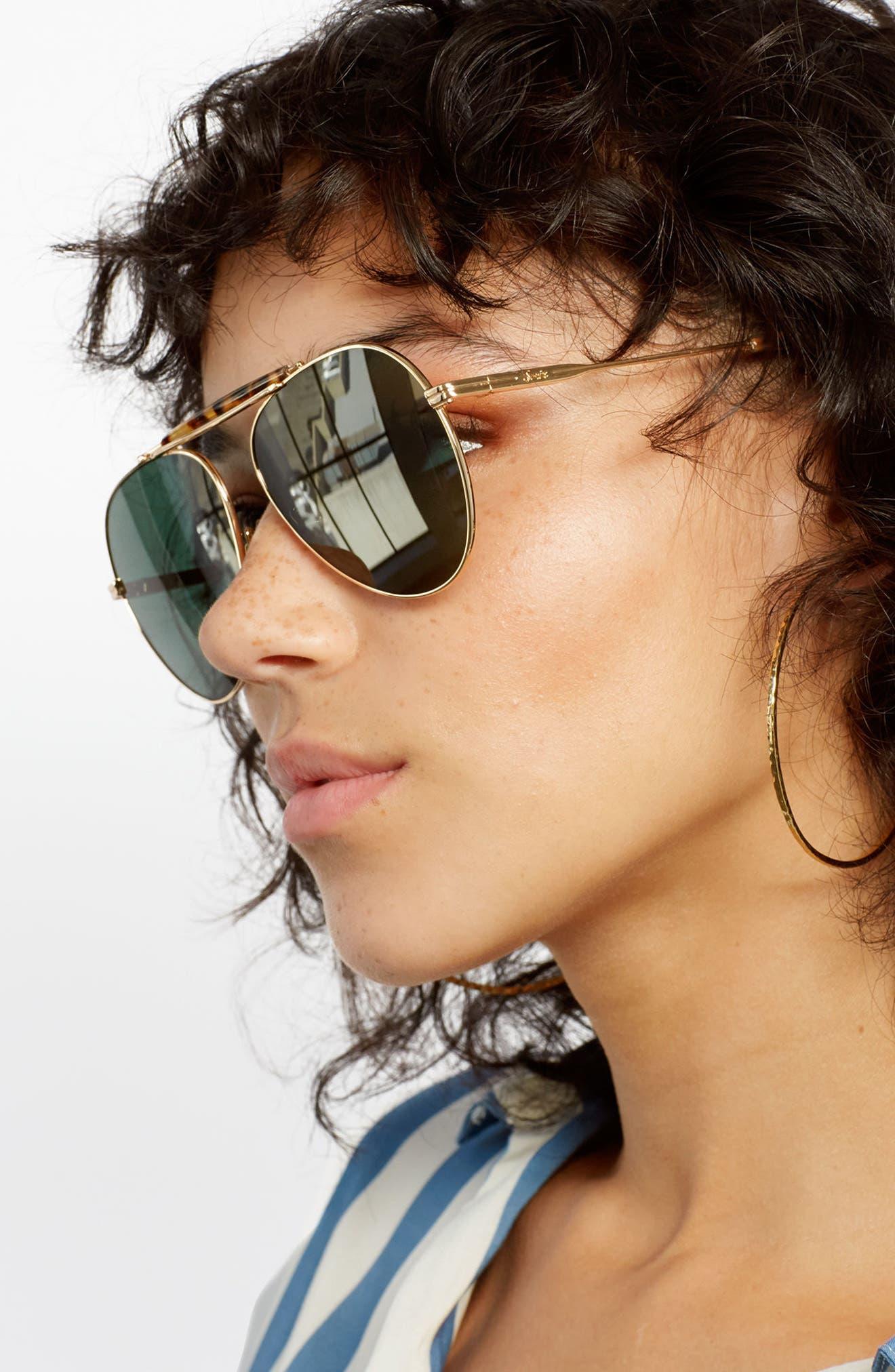 Nara 60mm Aviator Sunglasses,                             Alternate thumbnail 9, color,