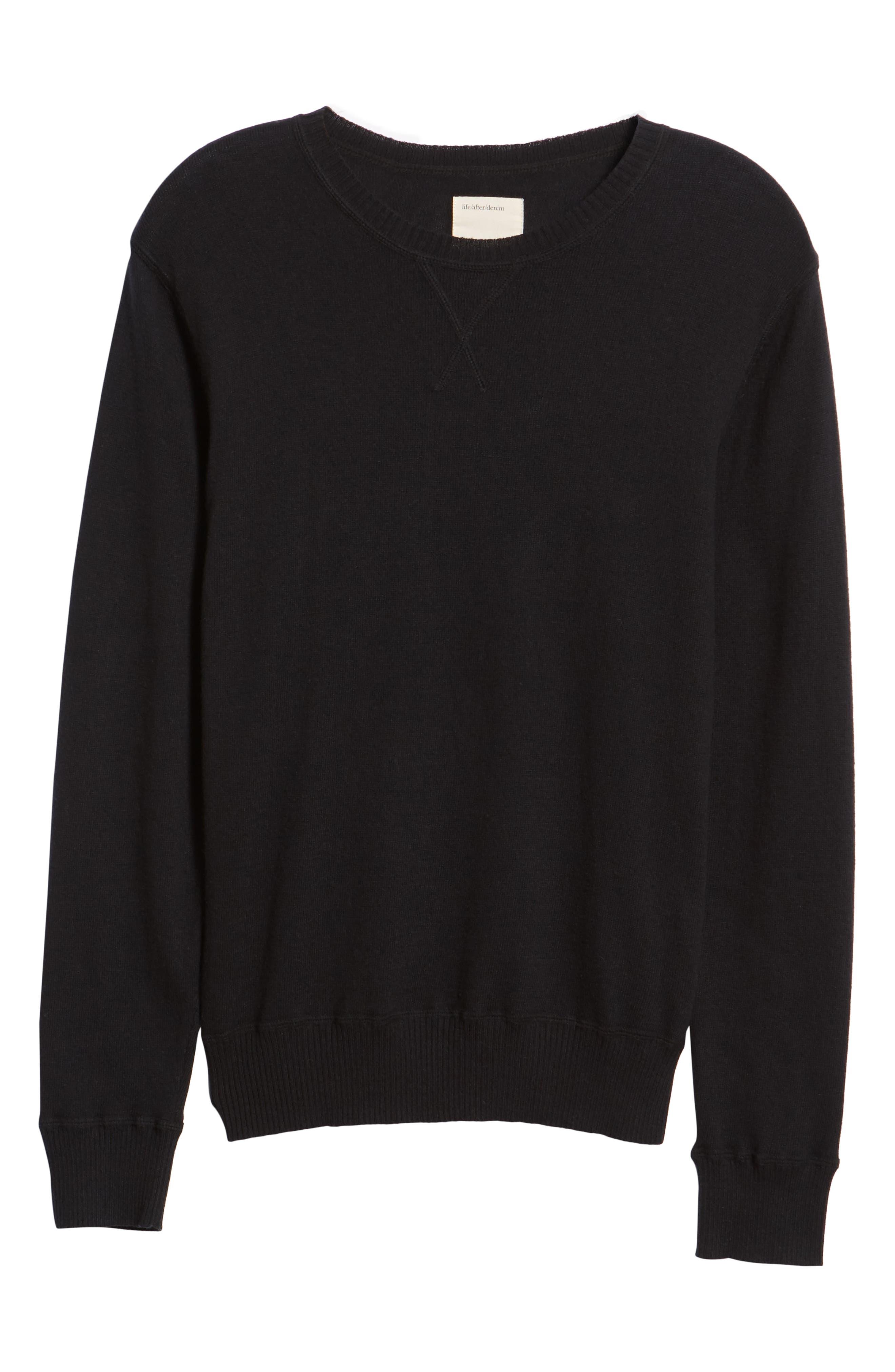 Tournament Slim Fit Crewneck Sweater,                             Alternate thumbnail 6, color,                             BLACK