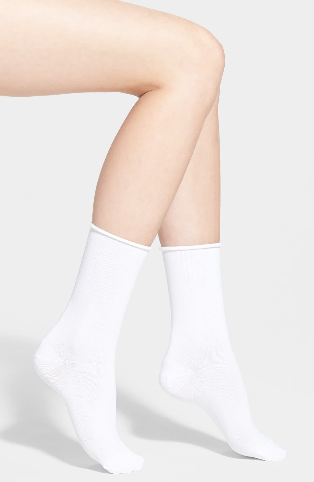 'Jeans' Socks,                             Main thumbnail 1, color,                             WHITE