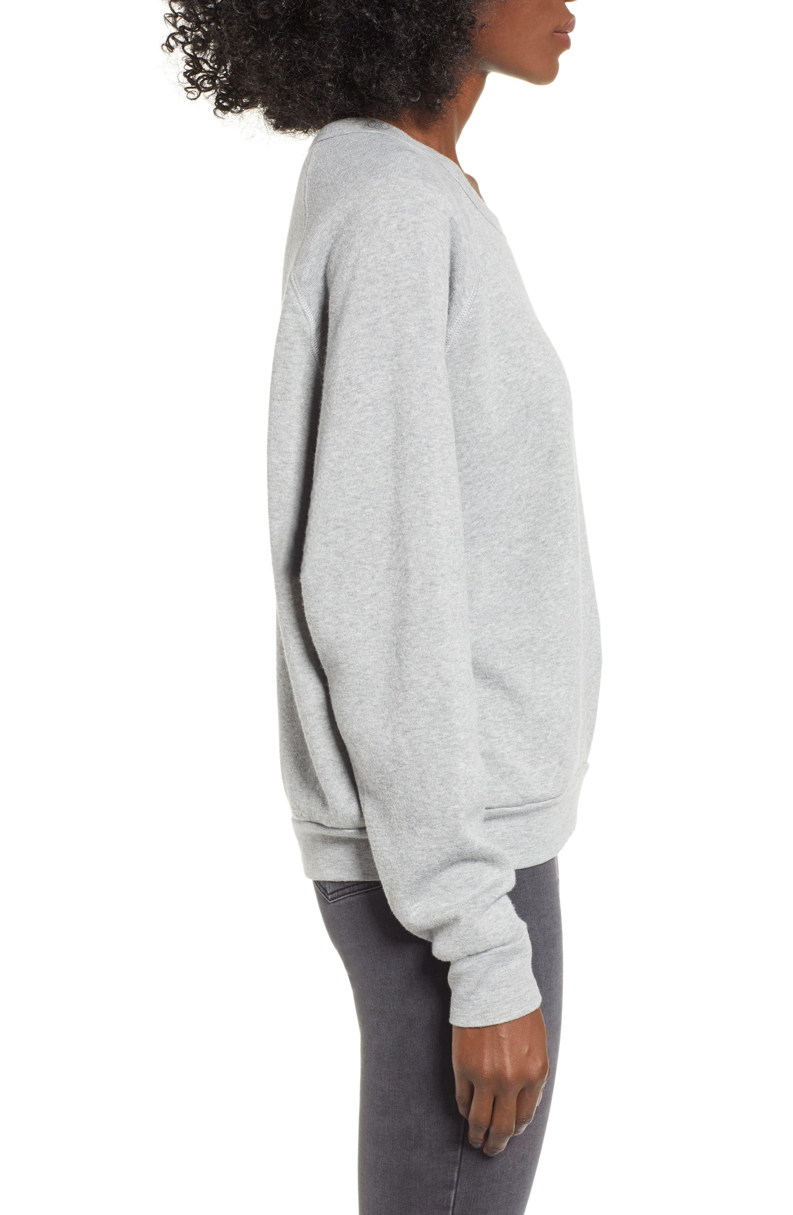 Naughty/Nice Reversible Sweatshirt,                             Alternate thumbnail 4, color,                             HEATHER GREY