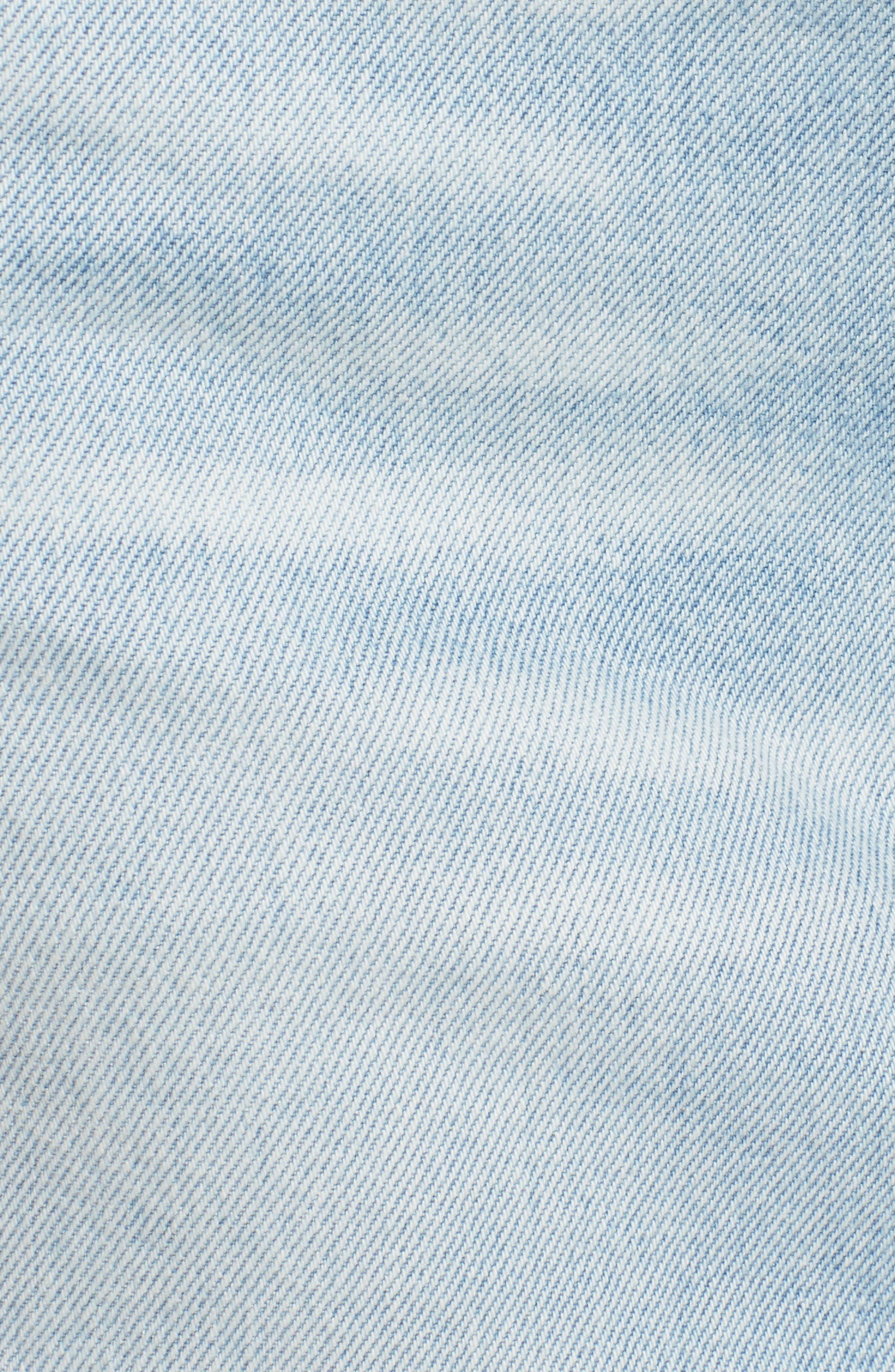 Quinn High Waist Cutoff Denim Miniskirt,                             Alternate thumbnail 5, color,                             VEGA