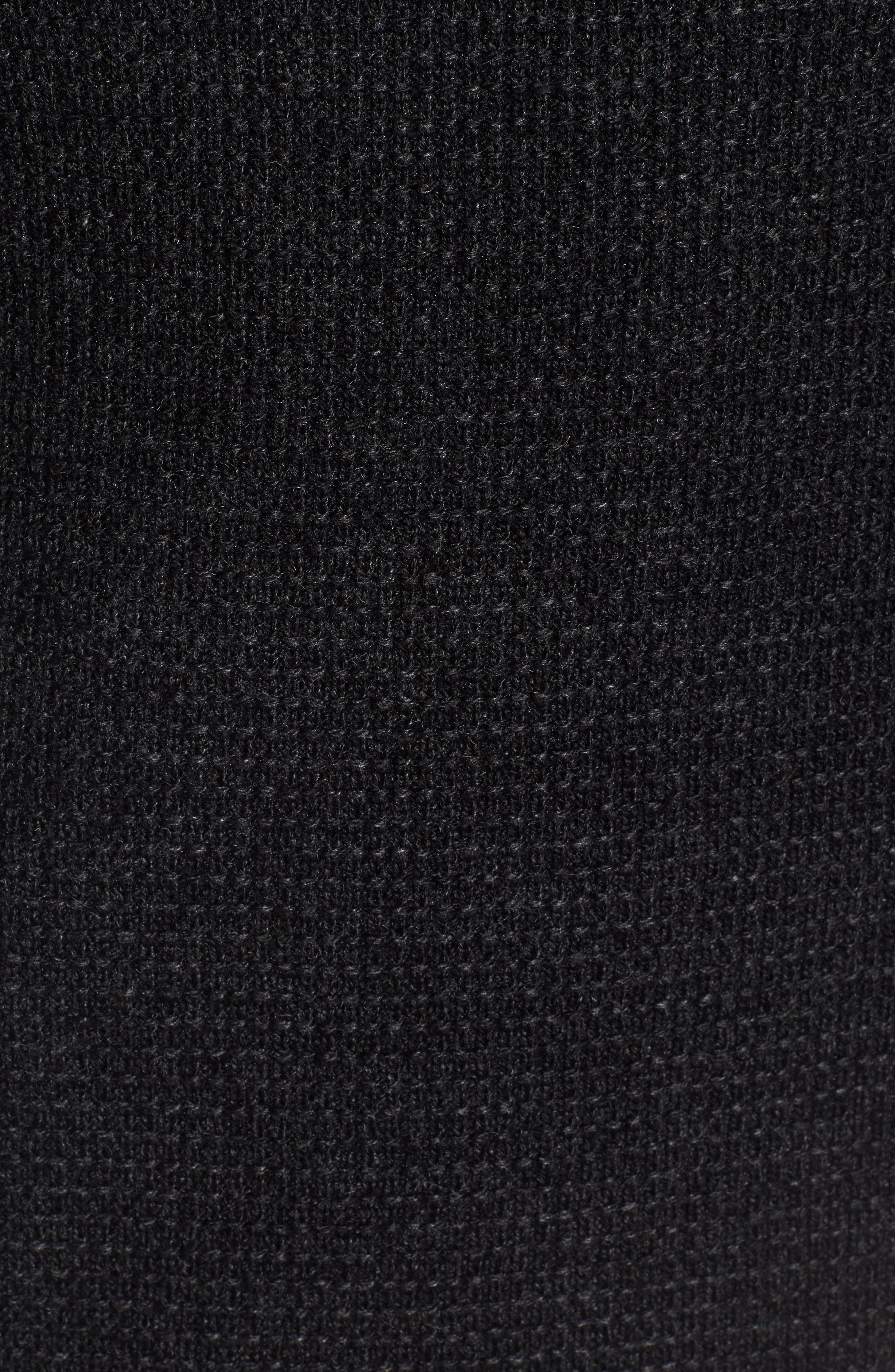 Waffle Knit Thermal Wool Blend Pullover,                             Alternate thumbnail 5, color,                             BLACK