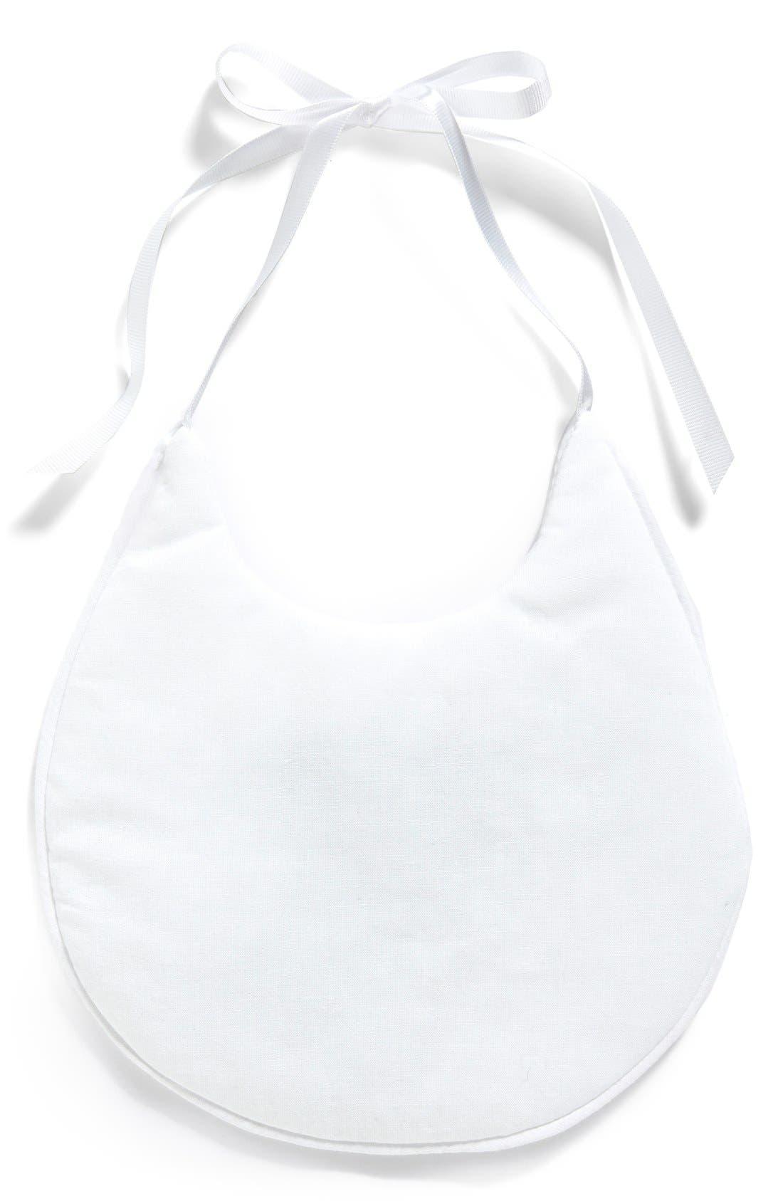 Cotton Bib,                             Main thumbnail 1, color,                             WHITE