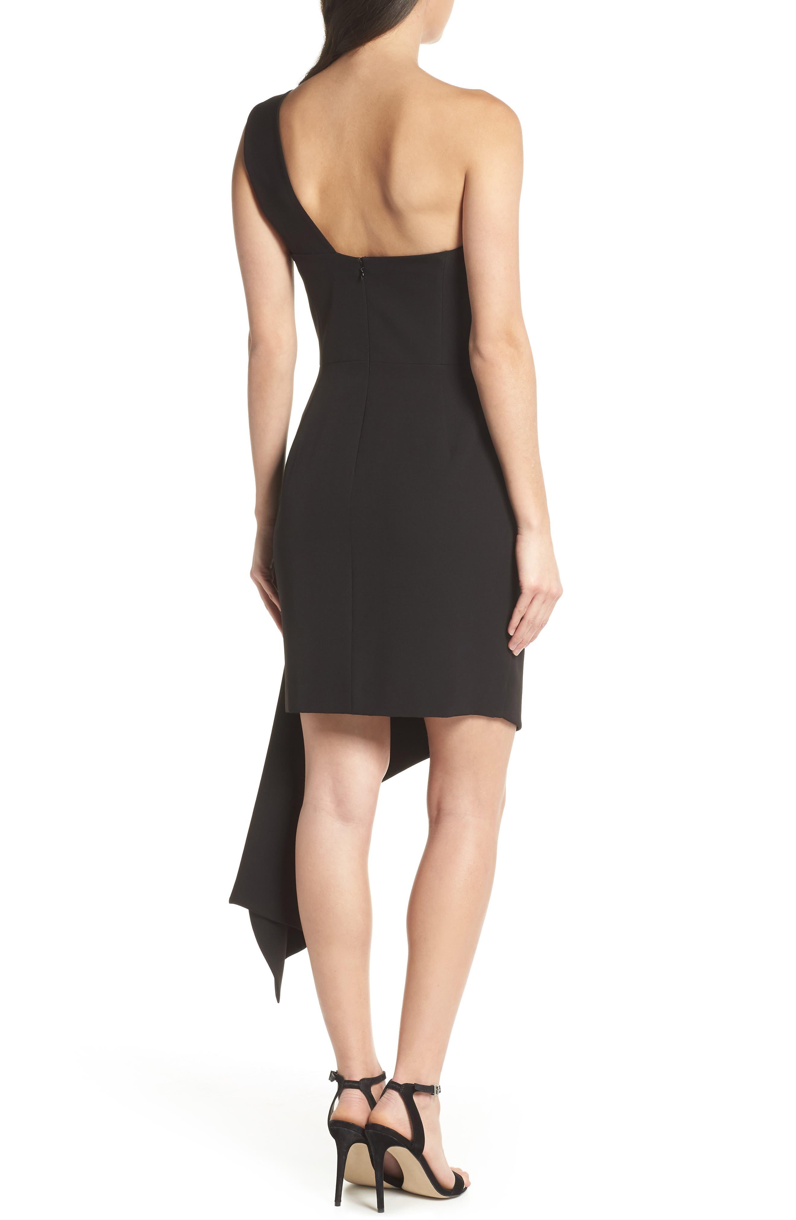 CLOVER AND SLOANE,                             One-Shoulder Asymmetric Dress,                             Alternate thumbnail 2, color,                             001