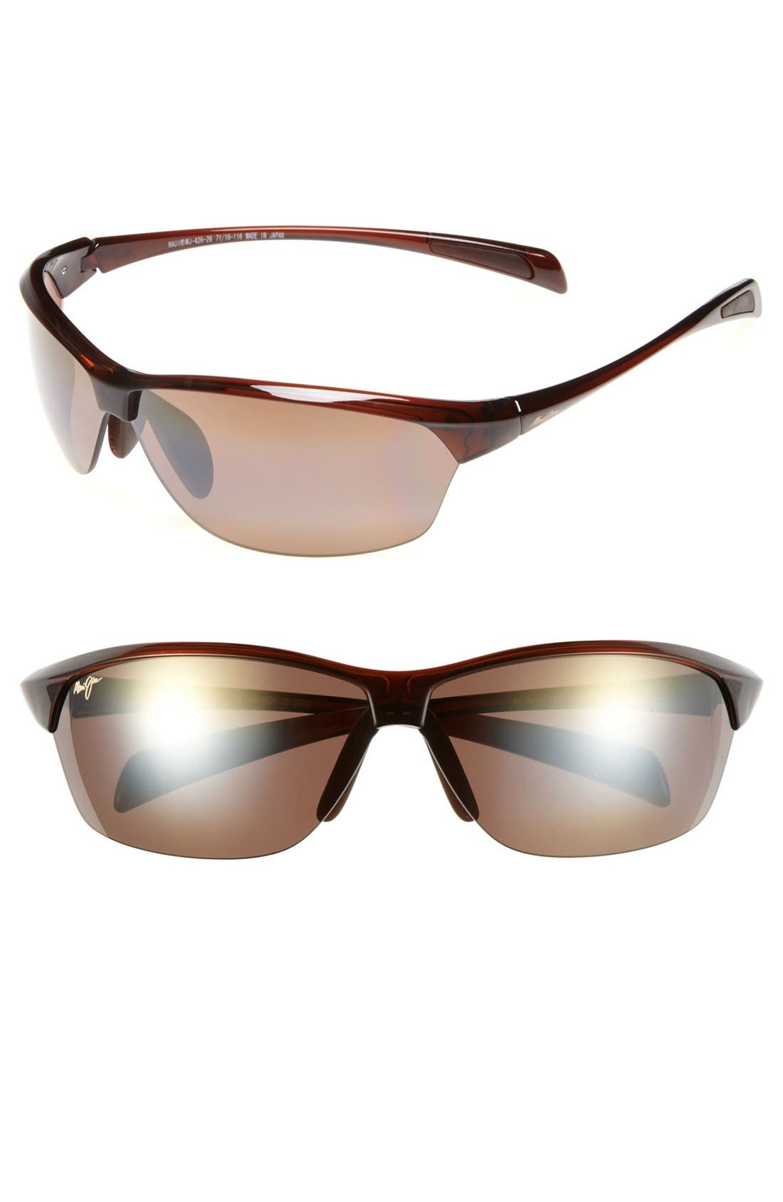 Hot Sands 71mm PolarizedPlus2<sup>®</sup> Sunglasses,                             Main thumbnail 1, color,                             ROOTBEER