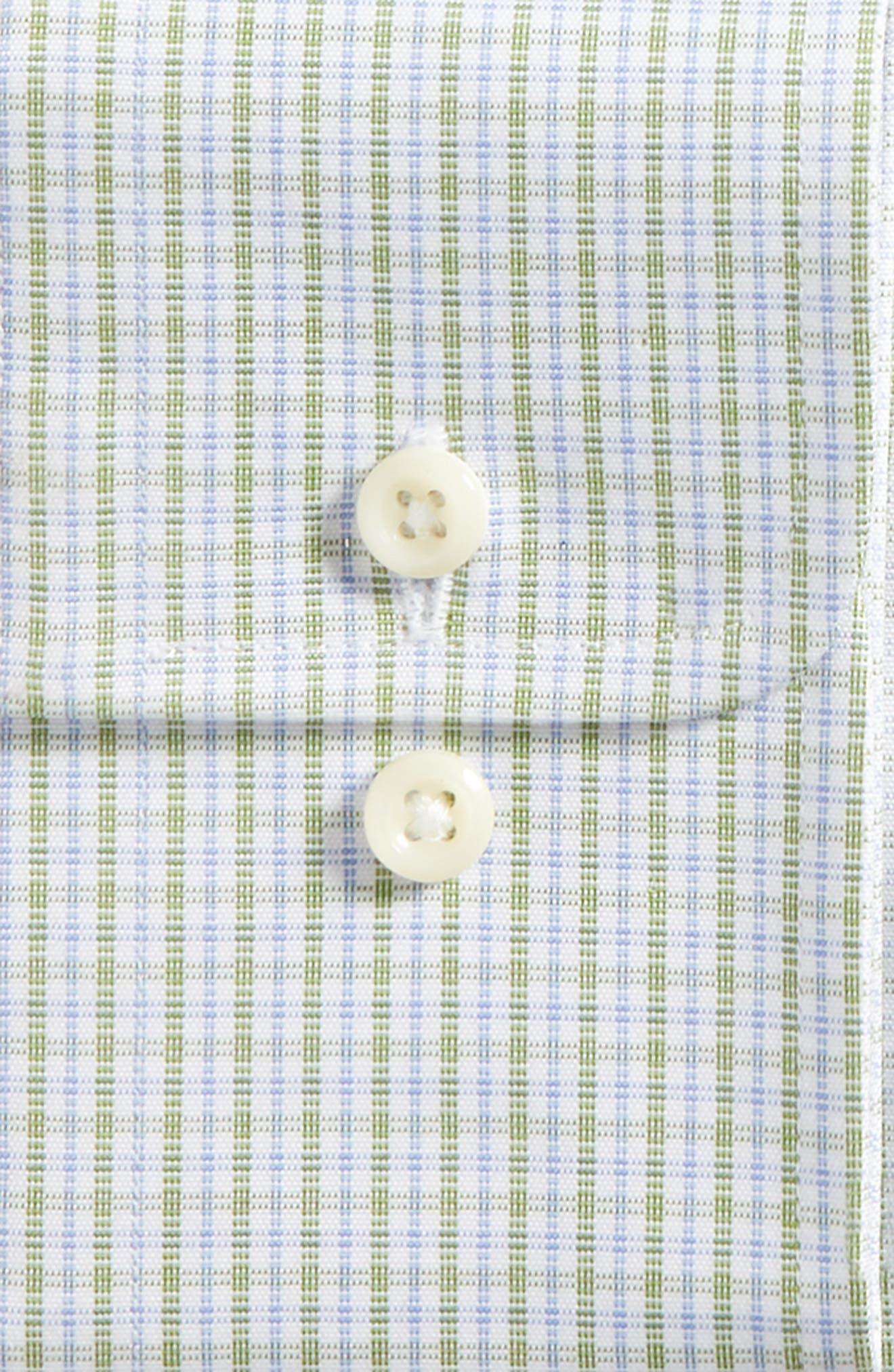 Trim Fit Check Dress Shirt,                             Alternate thumbnail 6, color,                             310