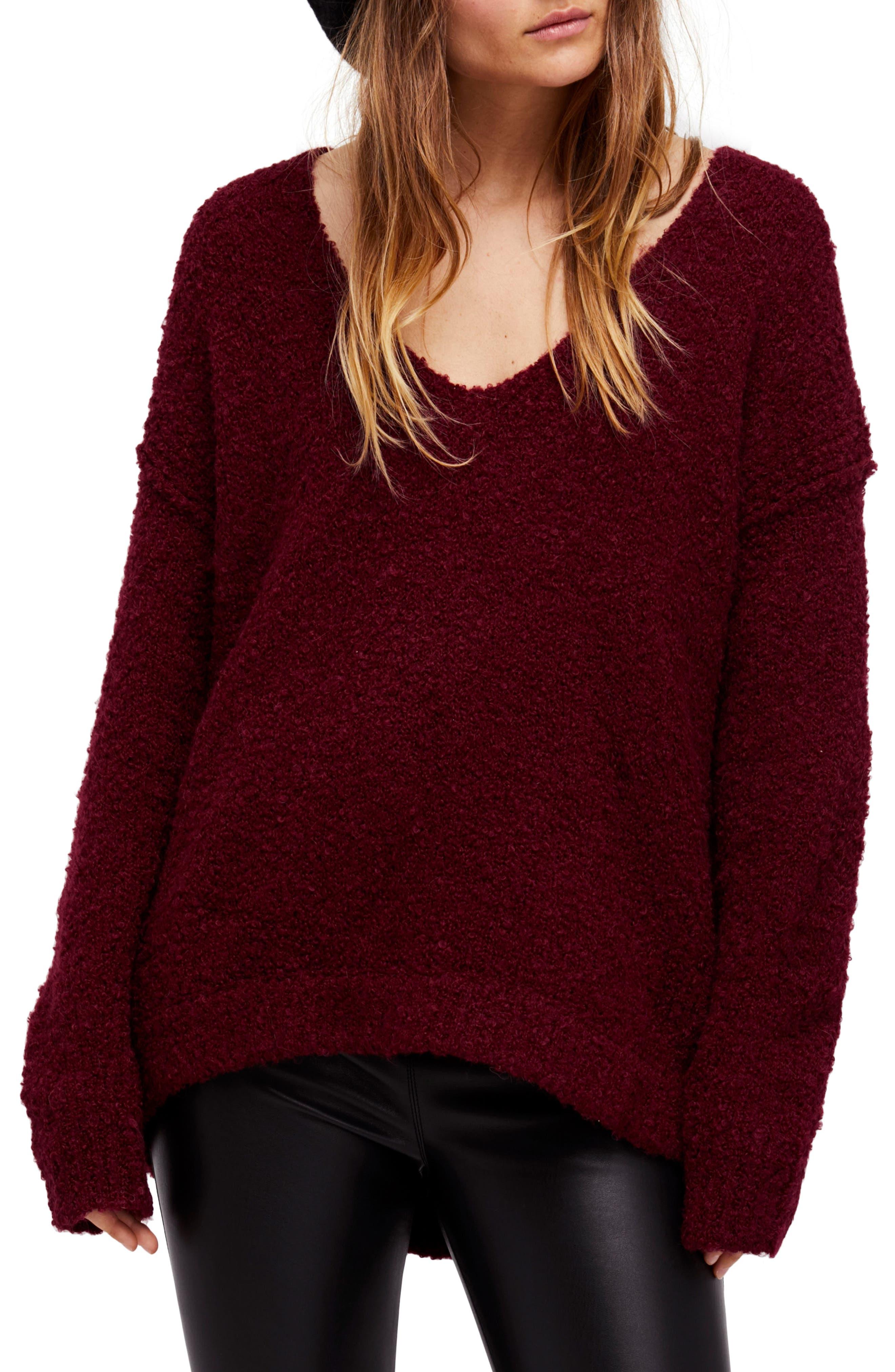 Lofty V-Neck Sweater,                             Main thumbnail 7, color,
