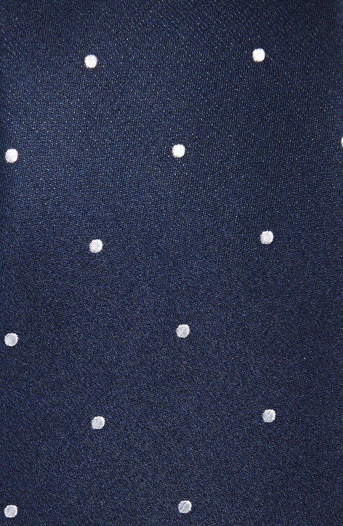 Woven Silk Tie,                             Alternate thumbnail 2, color,                             NAVY
