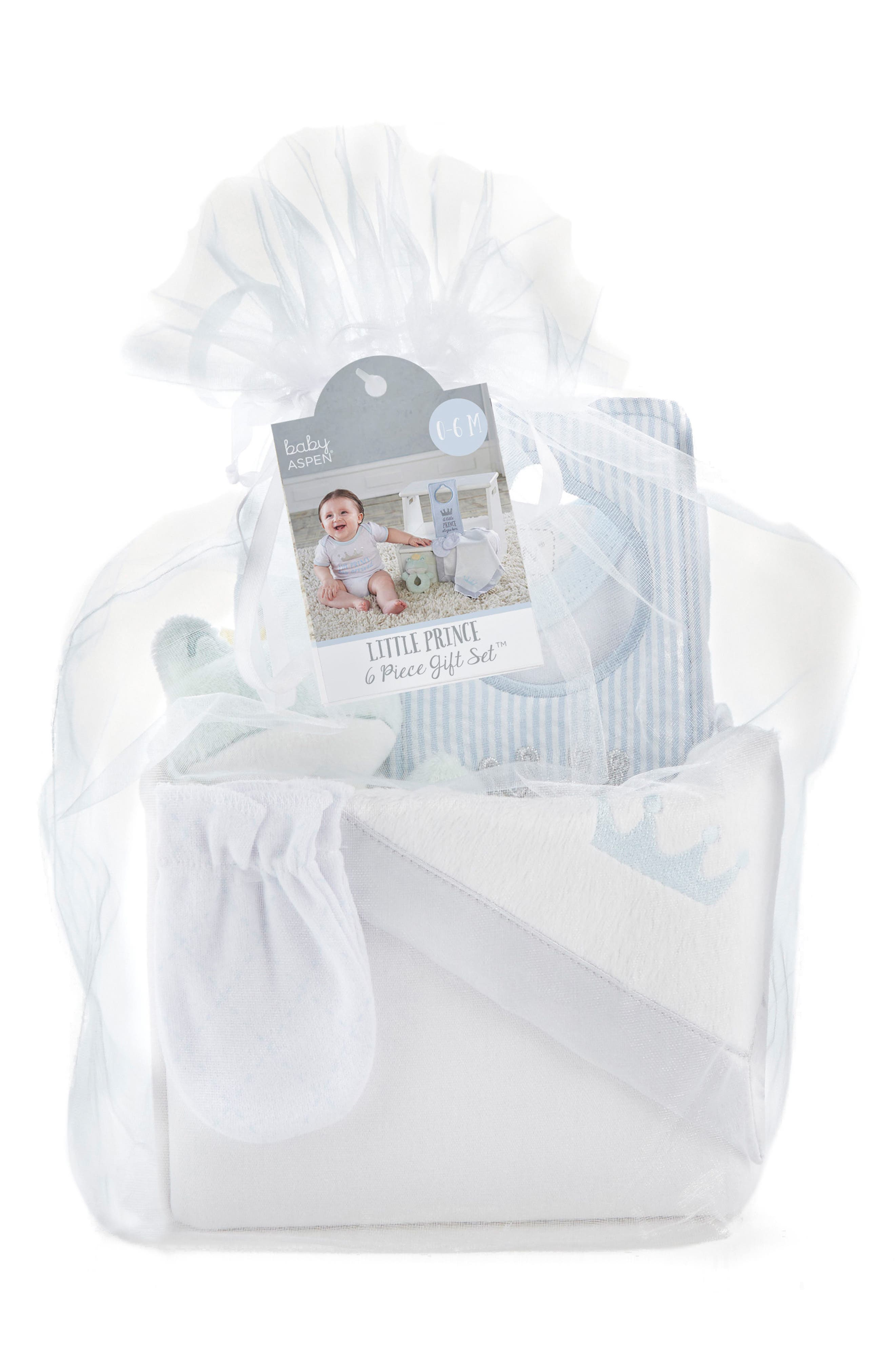 BABY ASPEN,                             Little Prince Welcome Home Gift Set,                             Main thumbnail 1, color,                             110