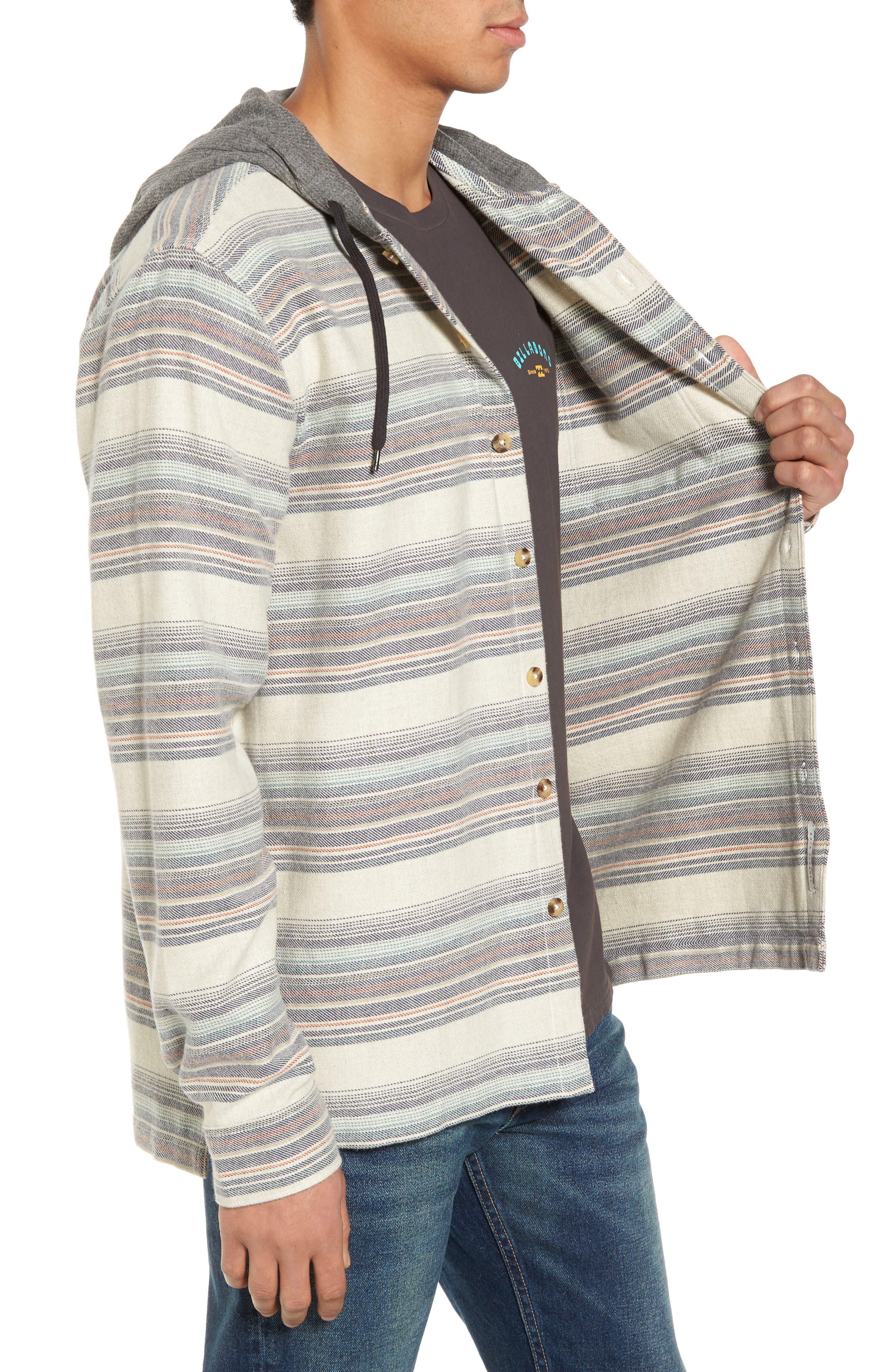 Baja Flannel Hoodie,                             Alternate thumbnail 6, color,