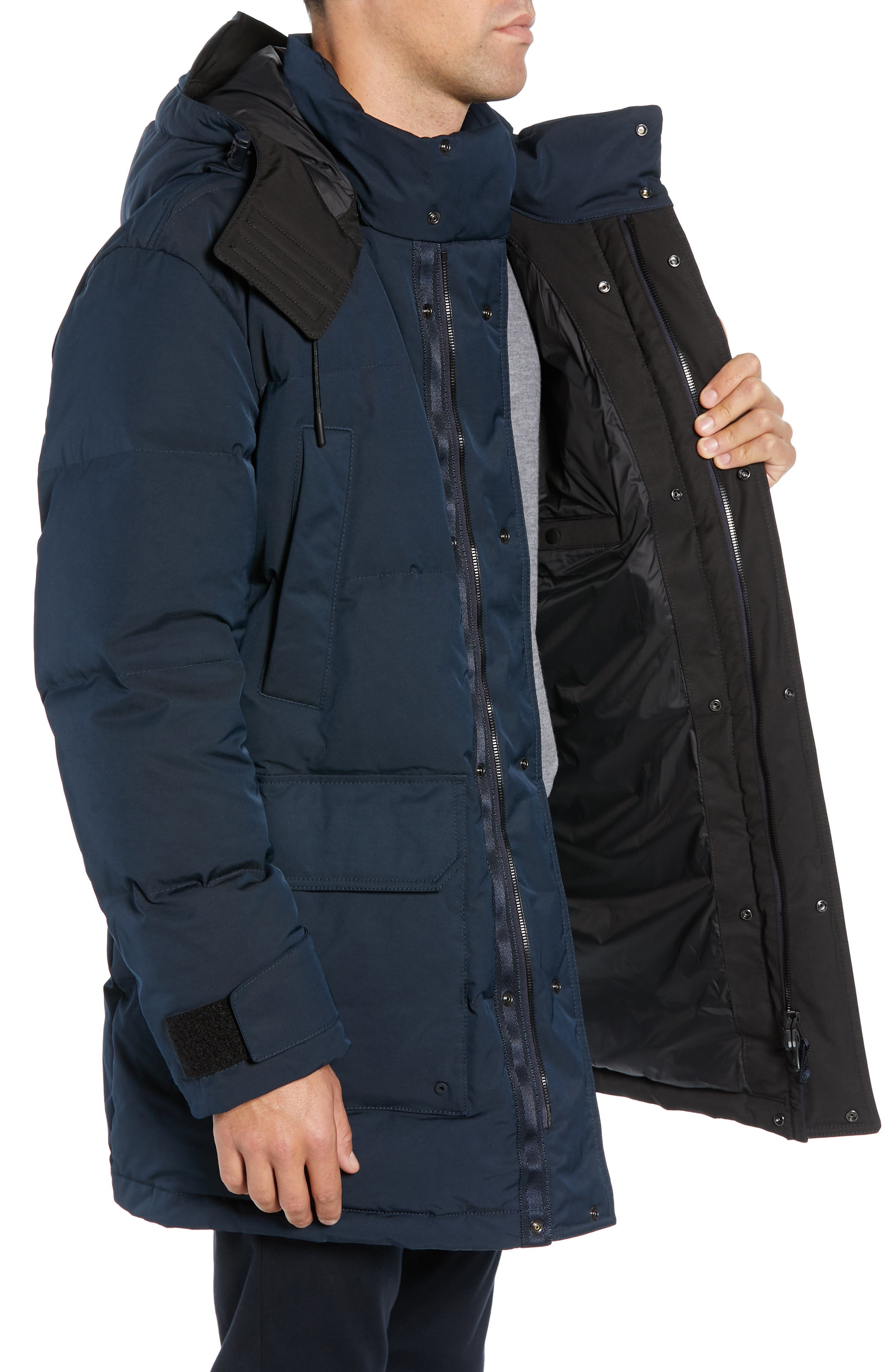 Onek Regular Fit Twill Puffer Jacket,                             Alternate thumbnail 3, color,                             BLUE
