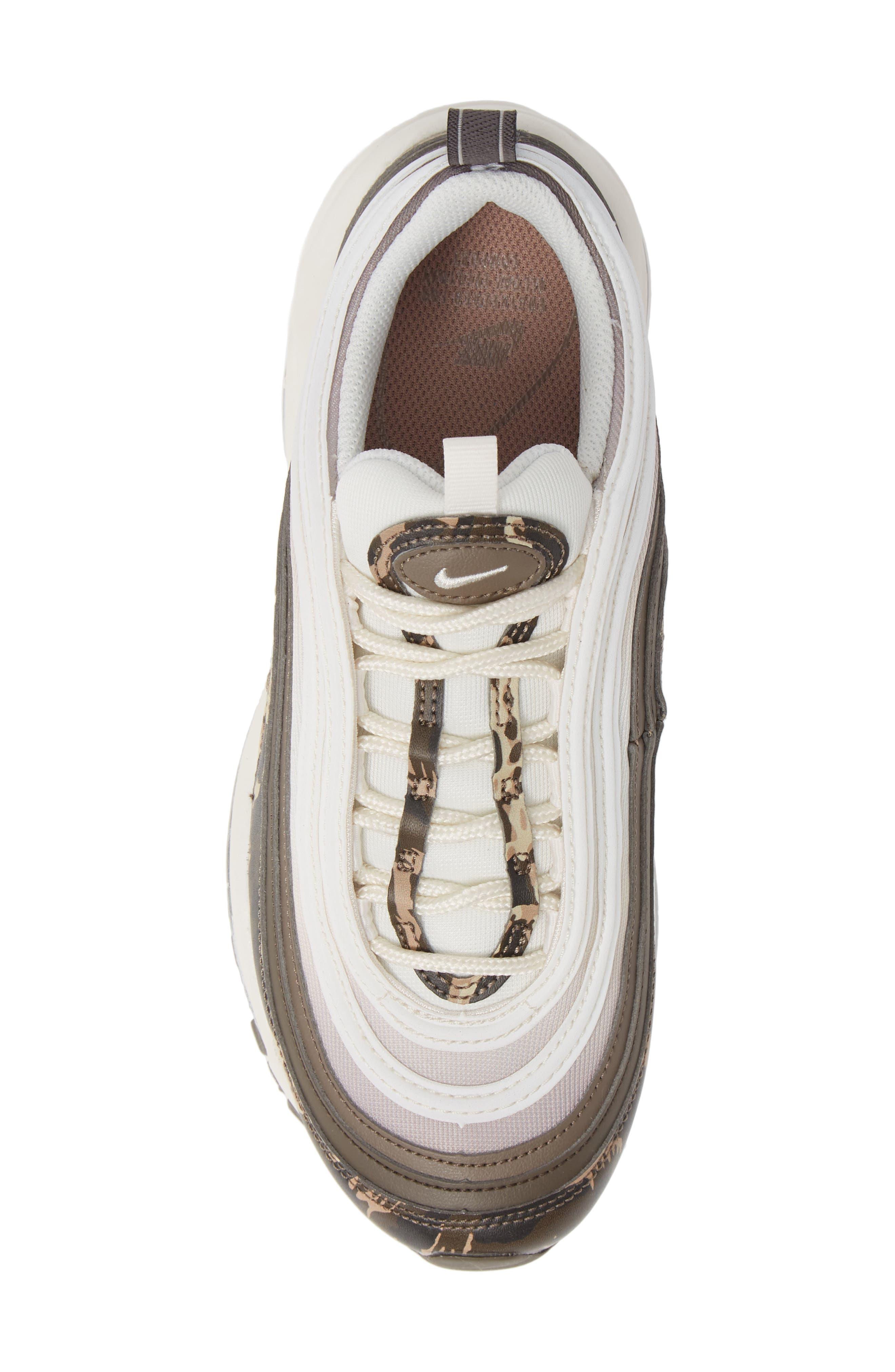 Air Max 97 Premium Sneaker,                             Alternate thumbnail 5, color,                             BROWN/ PHANTOM