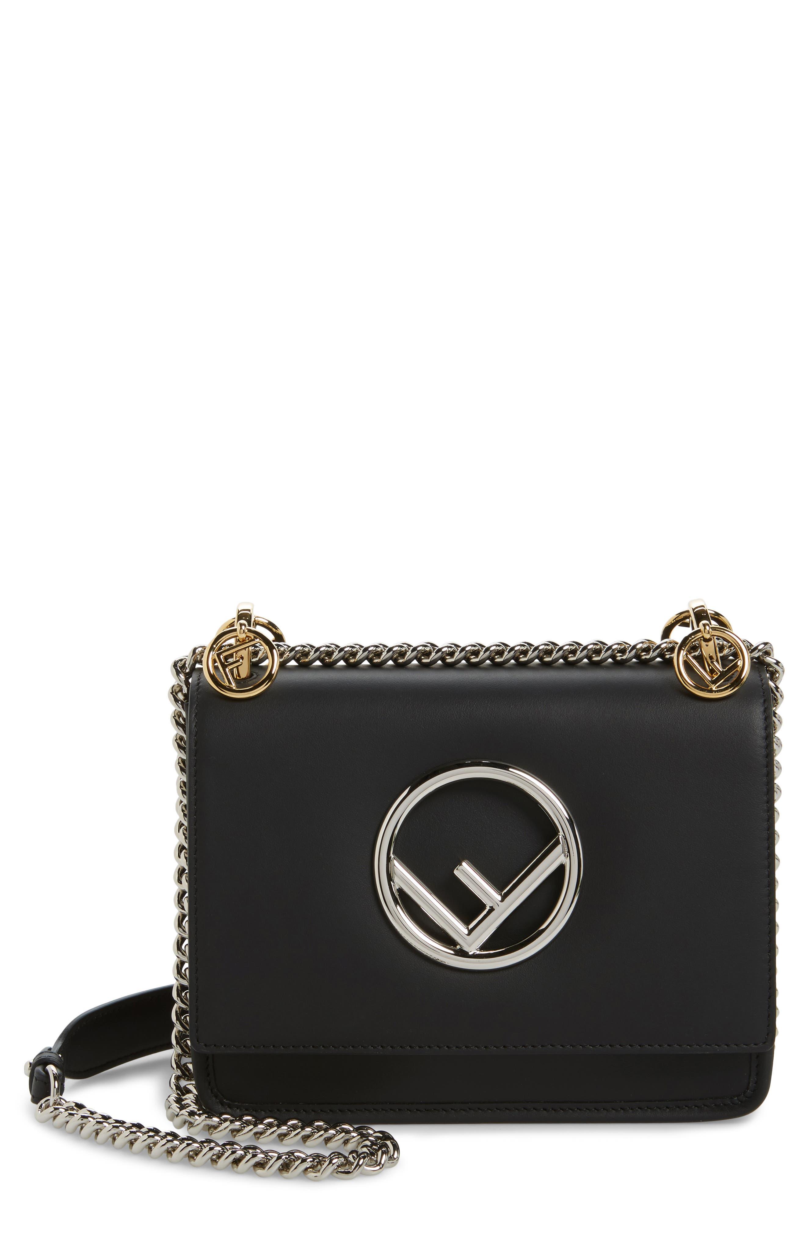 Kan I Calfskin Leather Shoulder Bag,                             Main thumbnail 1, color,                             004