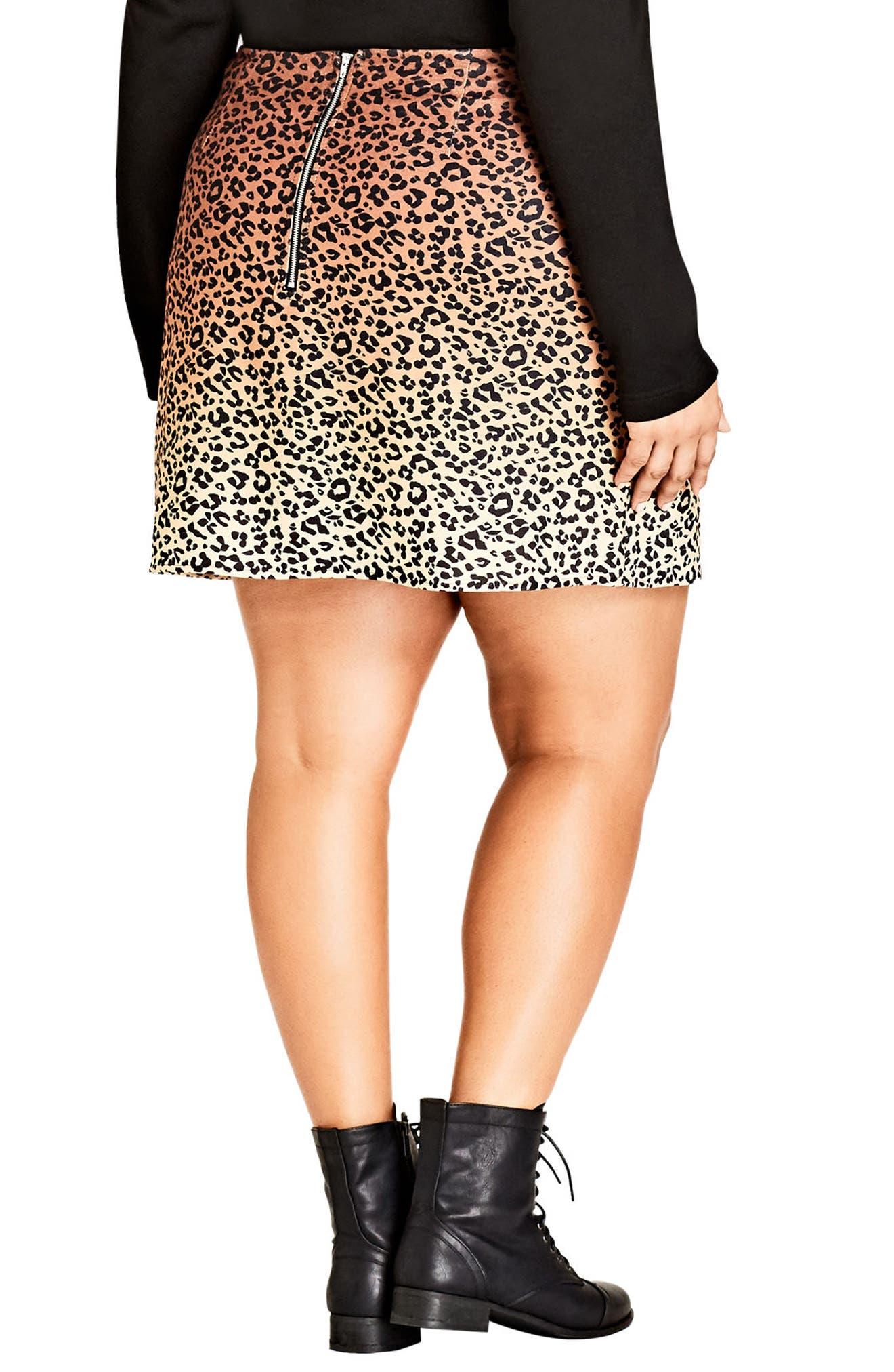 Leopard Lover Miniskirt,                             Alternate thumbnail 2, color,                             203