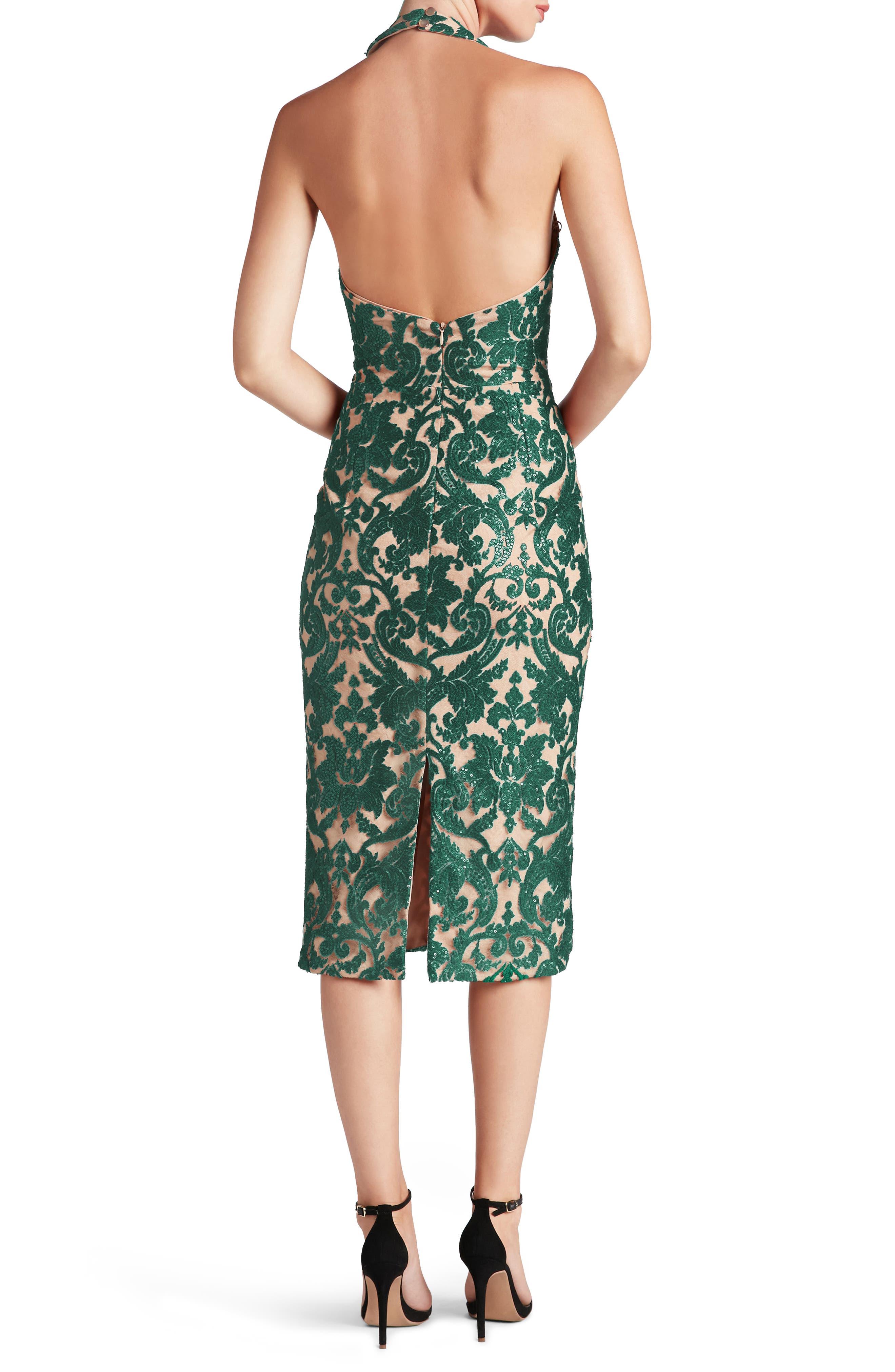 Cassie Sequin Midi Dress,                             Alternate thumbnail 11, color,