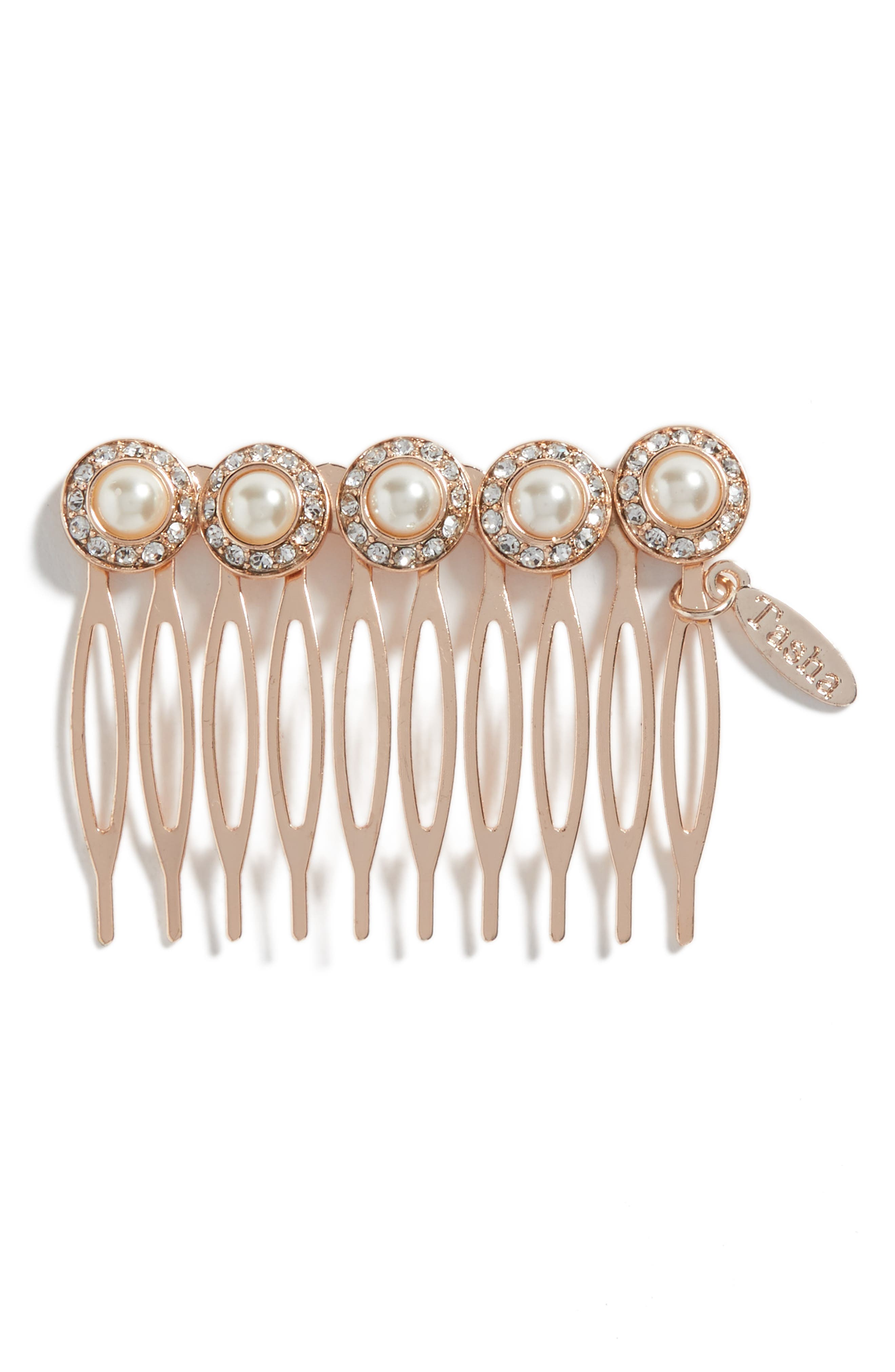 Imitation Pearl Embellished Hair Comb,                         Main,                         color, 220
