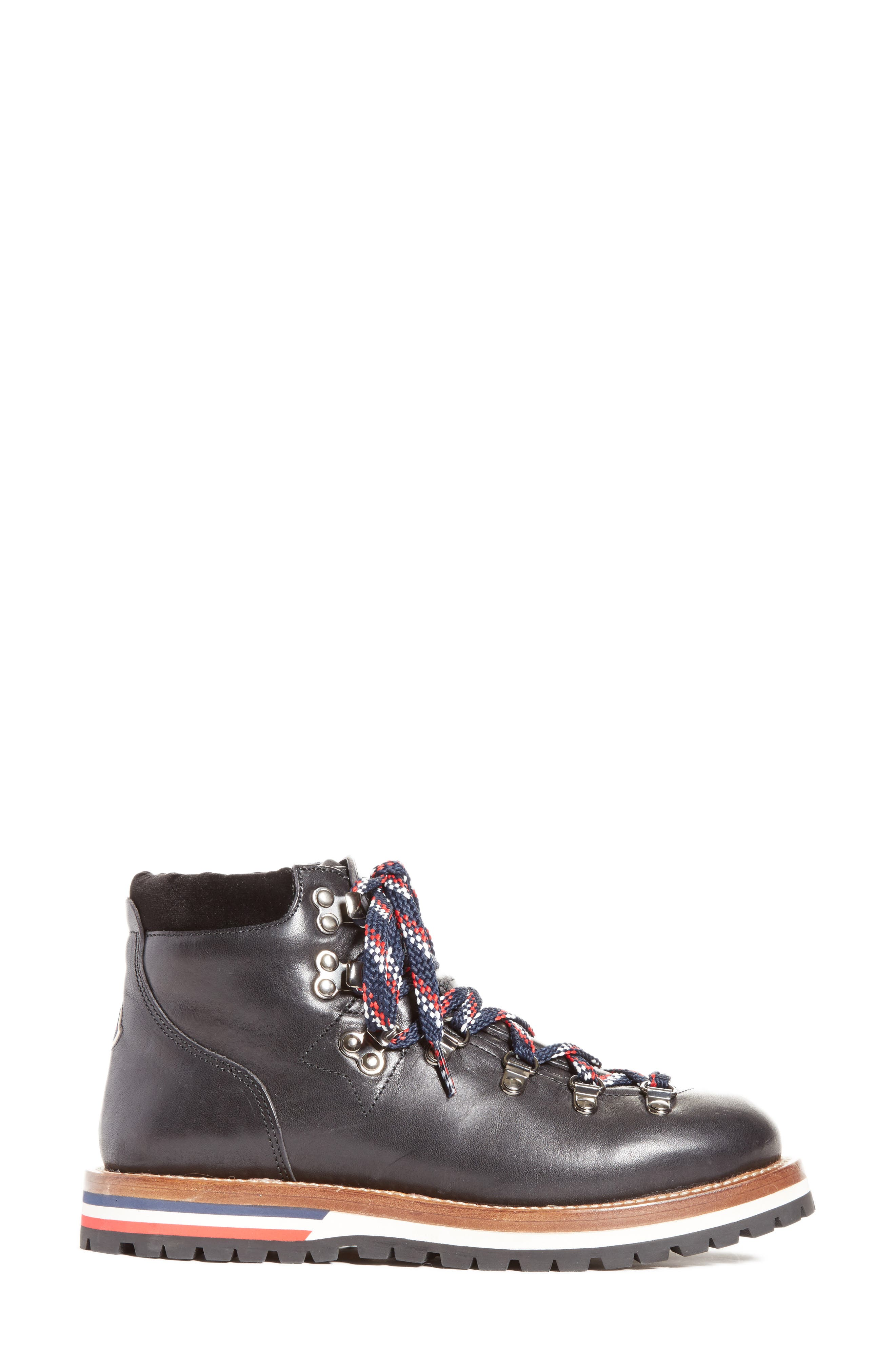 Blanche Lace-up Boot,                             Alternate thumbnail 3, color,                             BLACK