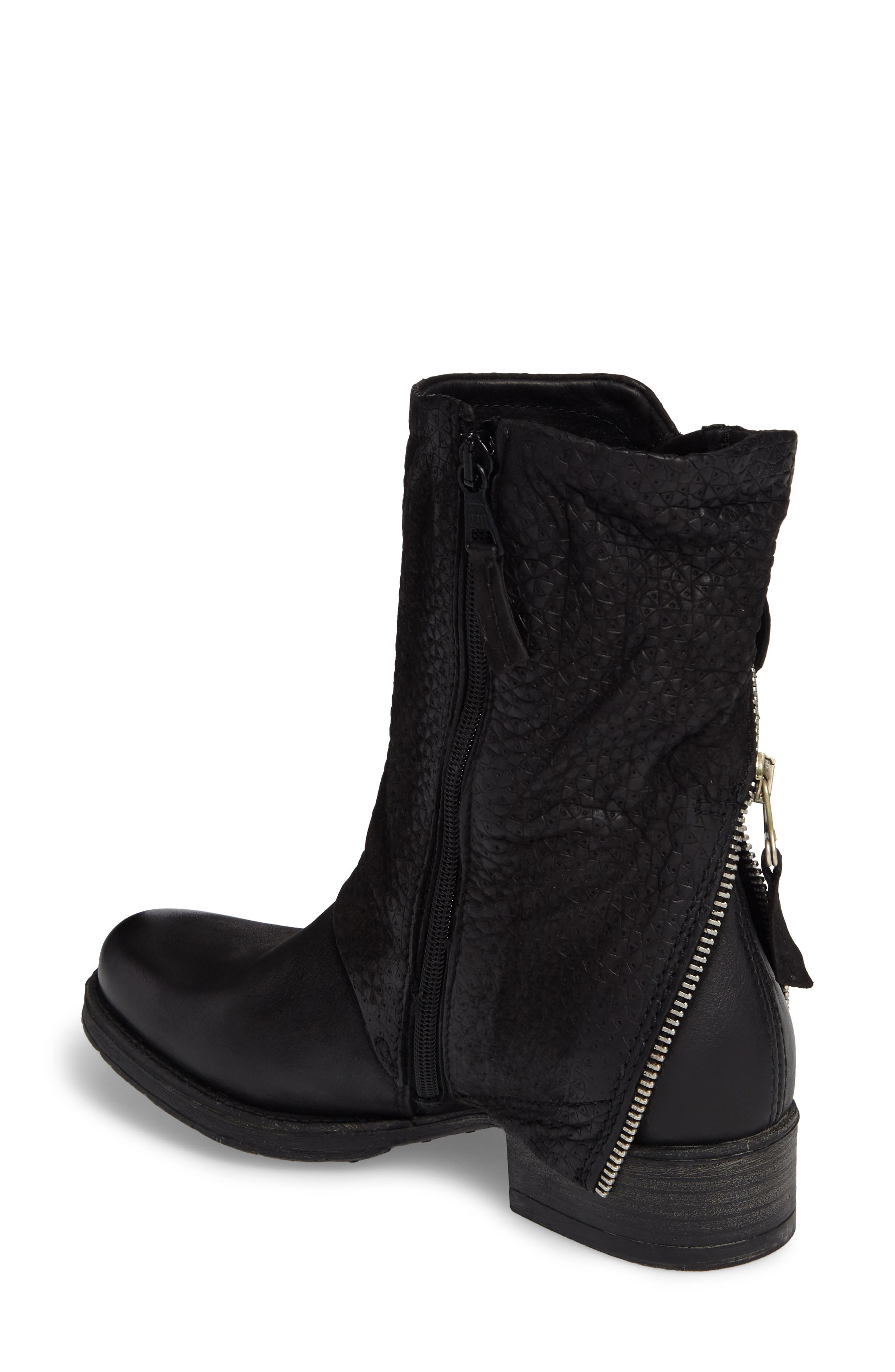 Nugget Asymmetrical Textured Boot,                             Alternate thumbnail 2, color,                             001