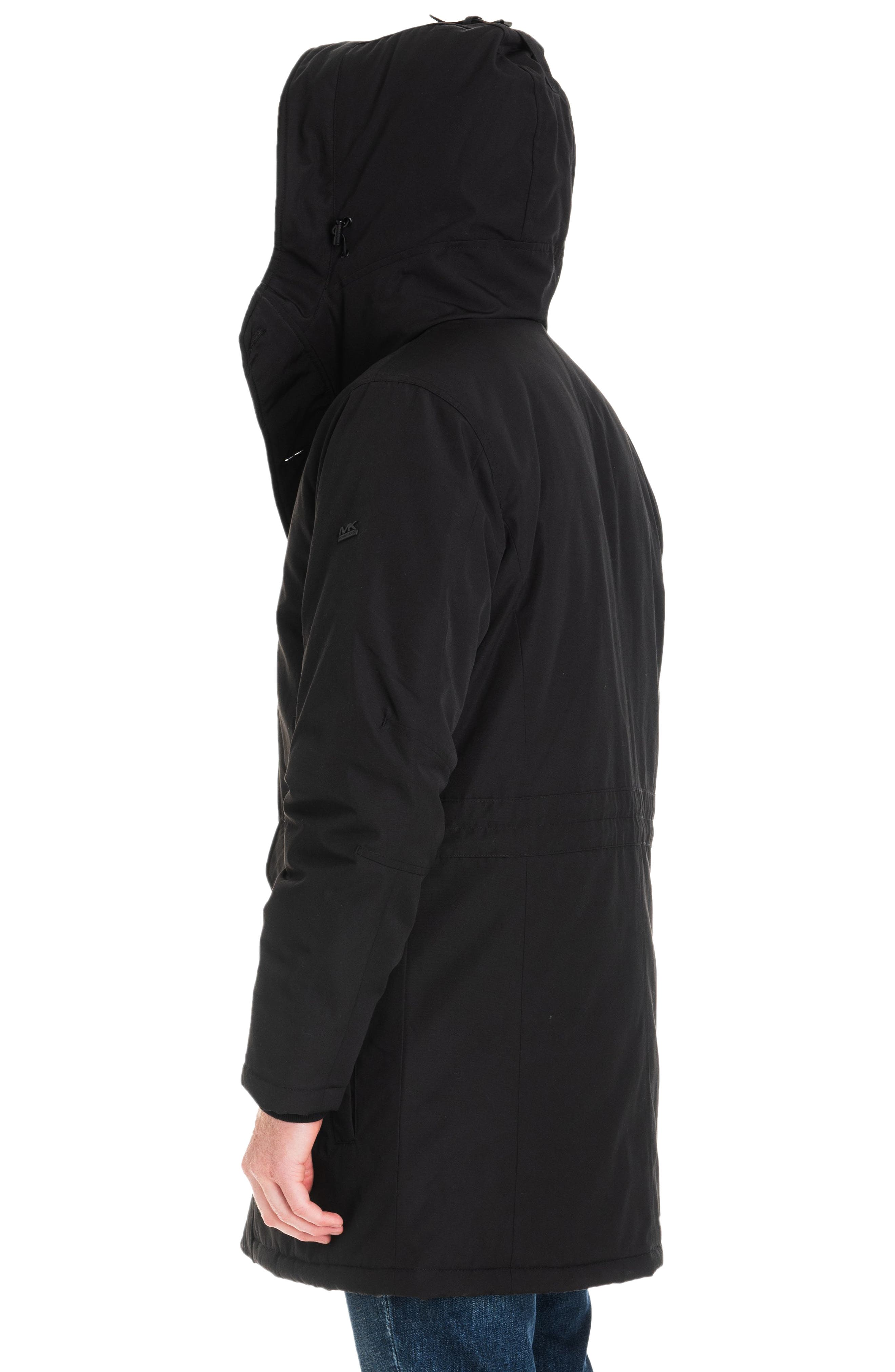 Gardiner Water Resistant Snorkel Coat,                             Alternate thumbnail 7, color,                             BLACK/ MIDNIGHT