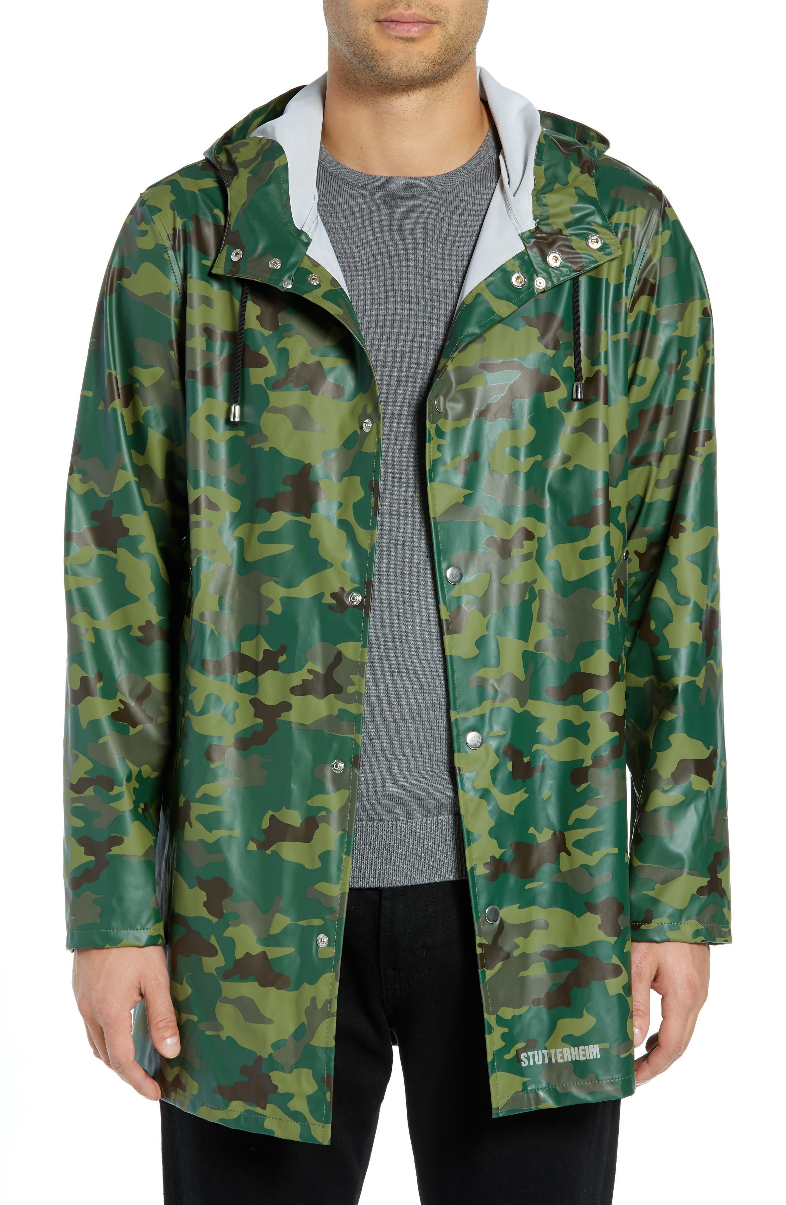 Stutterheim Stockholm Lightweight Waterproof Rain Jacket, Green