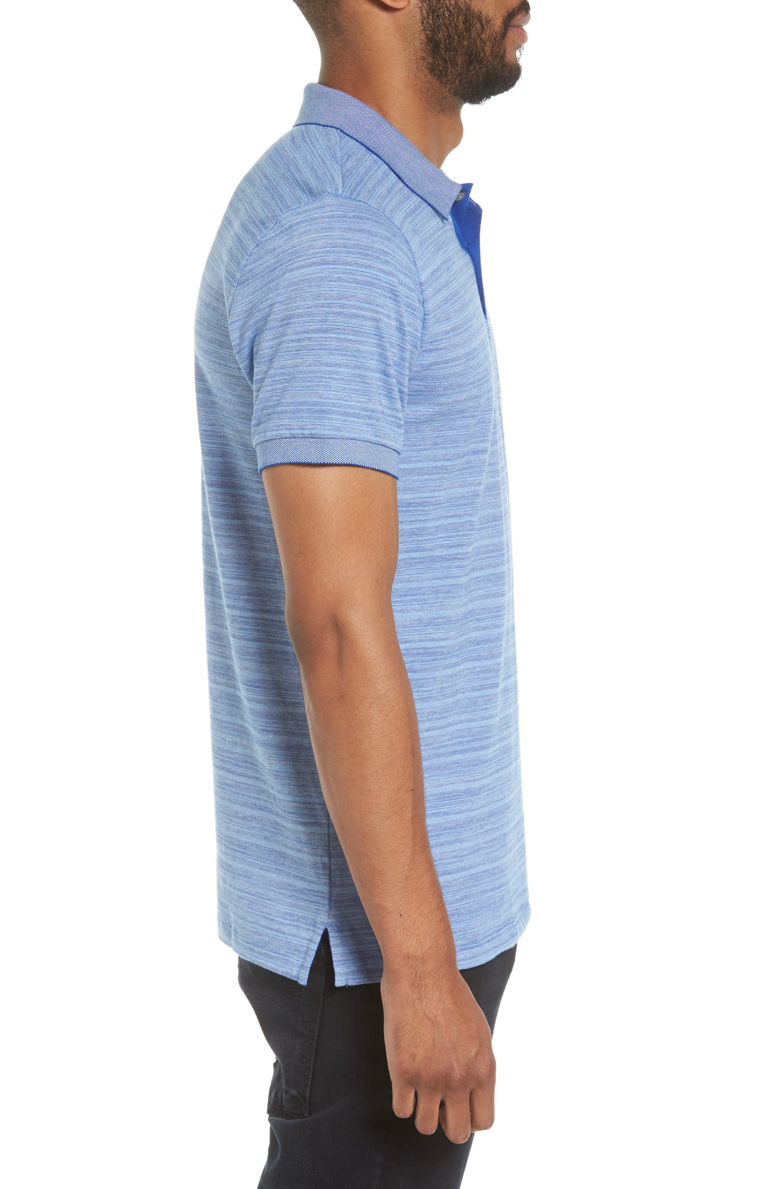 Phillipson Flame Slim Fit Polo,                             Alternate thumbnail 3, color,                             463