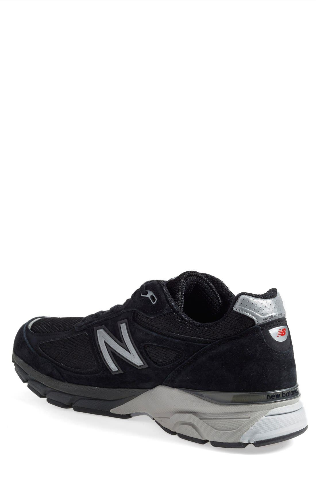 '990' Running Shoe,                             Alternate thumbnail 3, color,                             BLACK